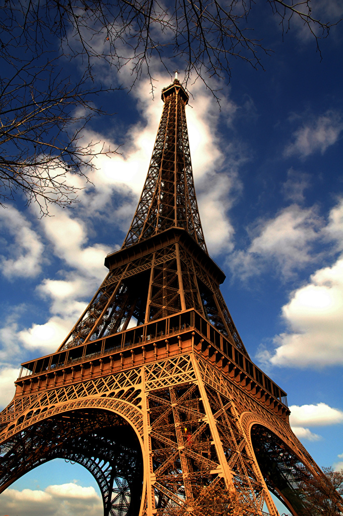 Fonds D Ecran France Tour Eiffel Paris Vue De Dessous Villes