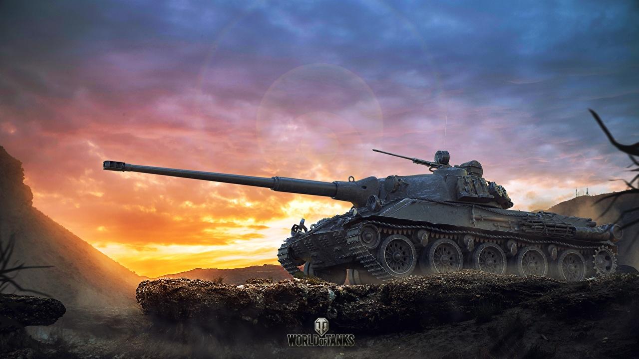 Desktop Wallpapers WOT Tanks Skoda T 27 Games World of Tanks tank vdeo game