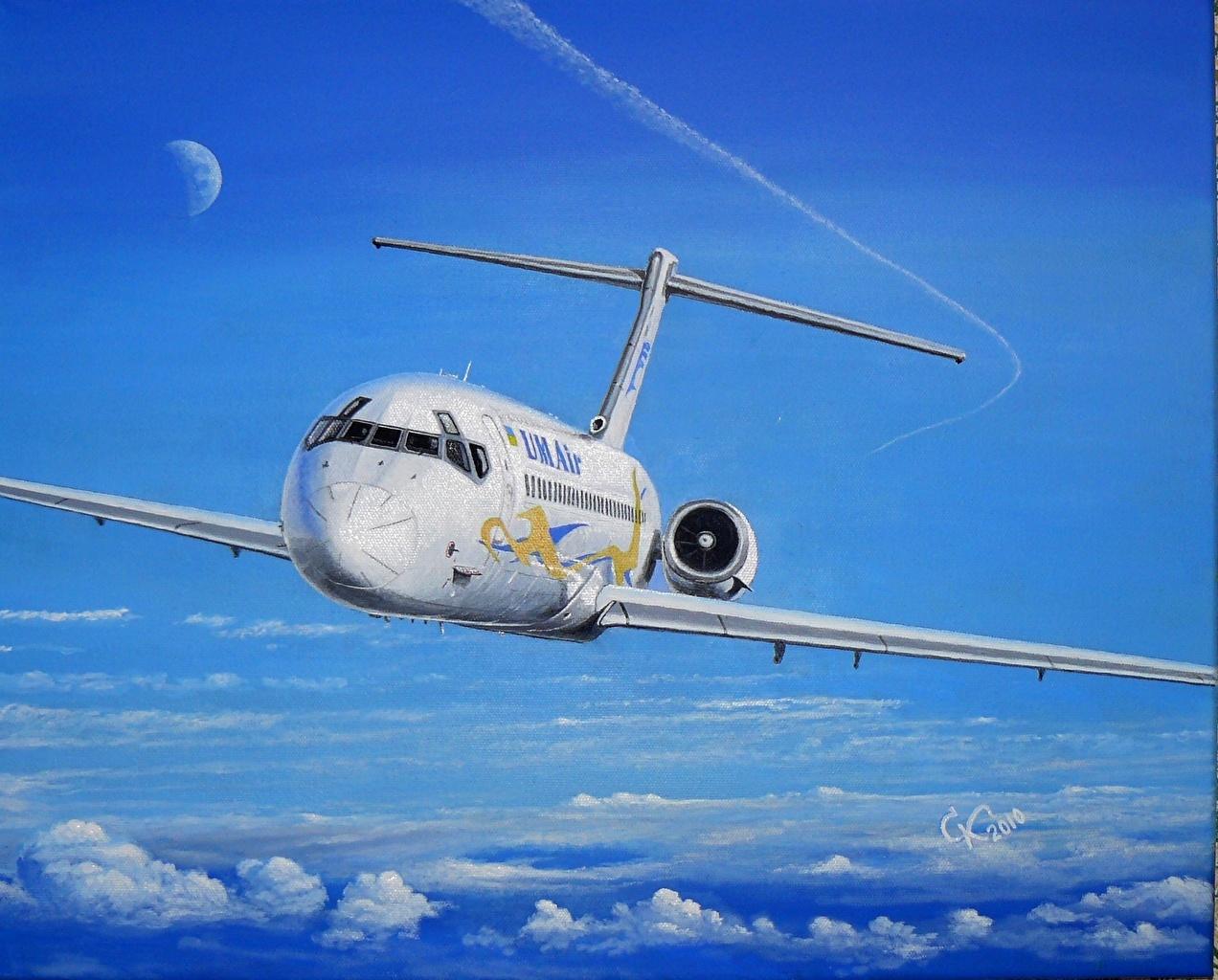 壁紙 描かれた壁紙 飛行機 旅客機 Dc 9 航空 ダウンロード 写真