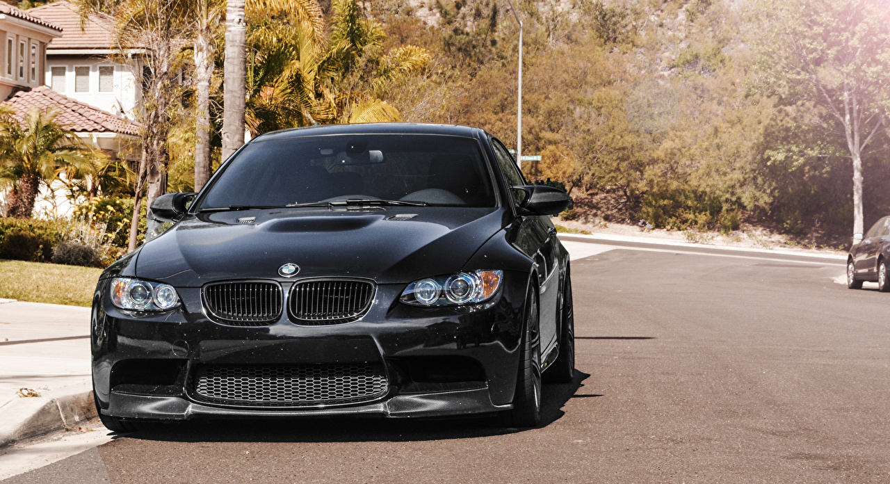 Image BMW m3 e92 Black Front automobile Cars auto