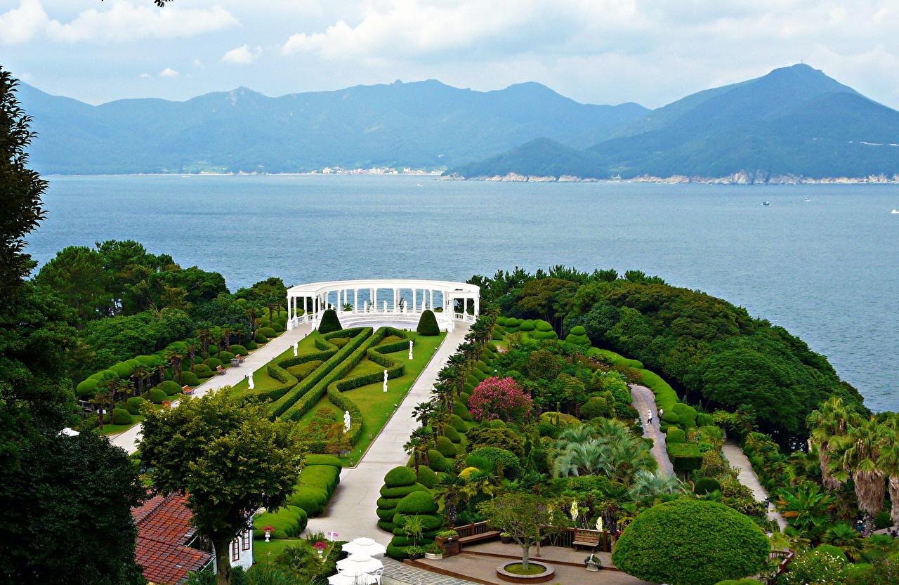 Jardíns Corea del Sur Montañas Diseño del paisaje Diseño montaña Naturaleza