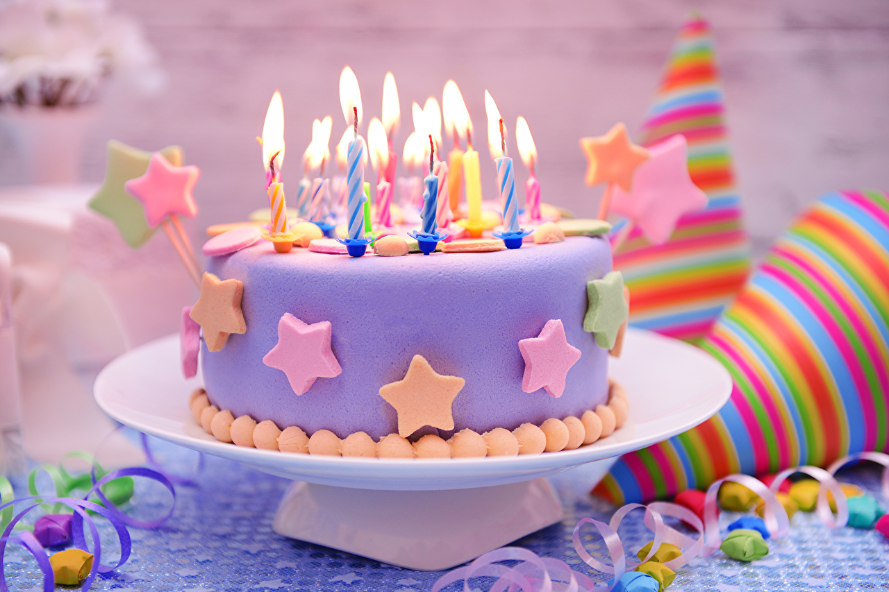 Image Birthday Cakes Food Candles Holidays Torte