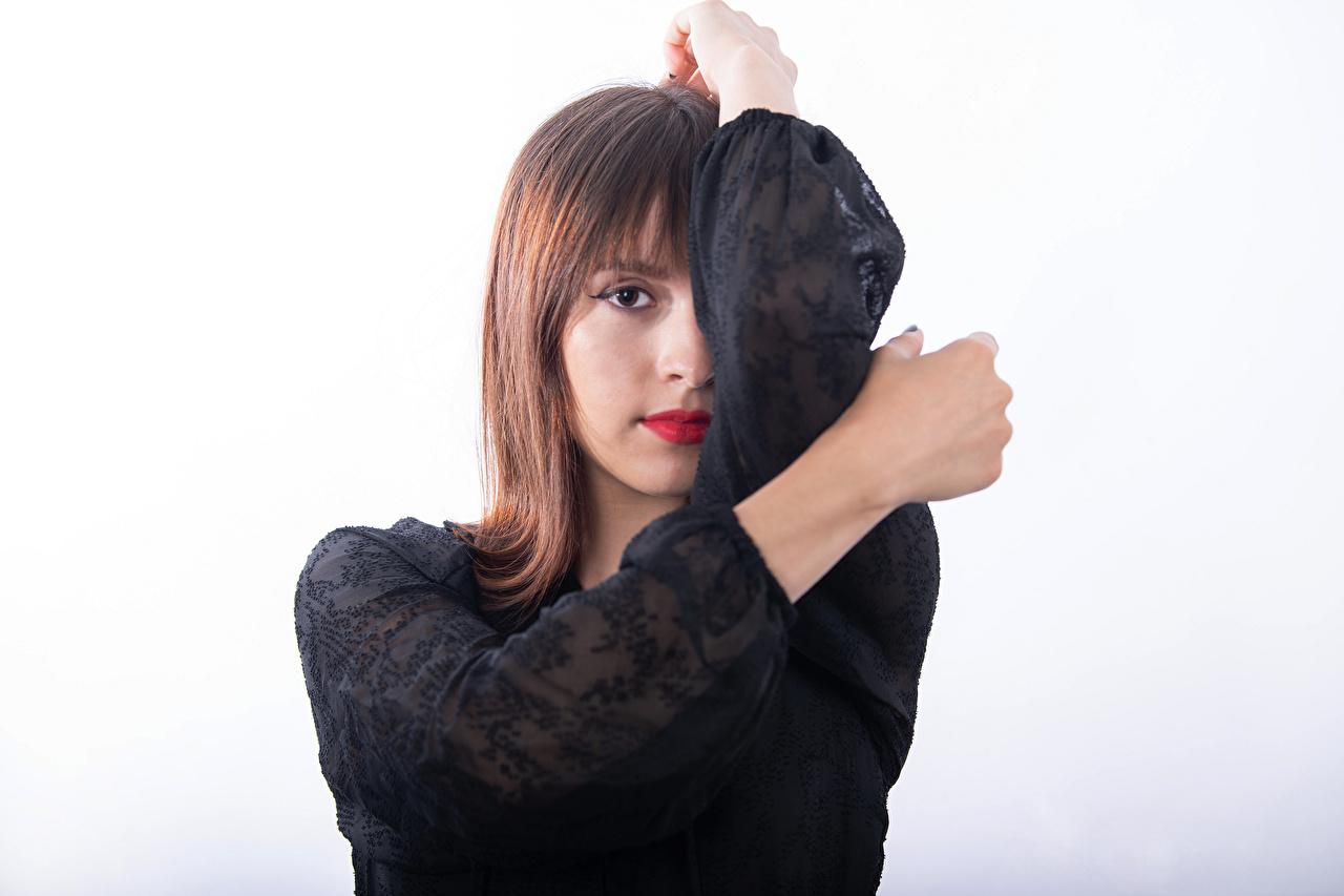 Bilder Mireya C. Balderas junge Frauen Hand Blick Mädchens junge frau Starren