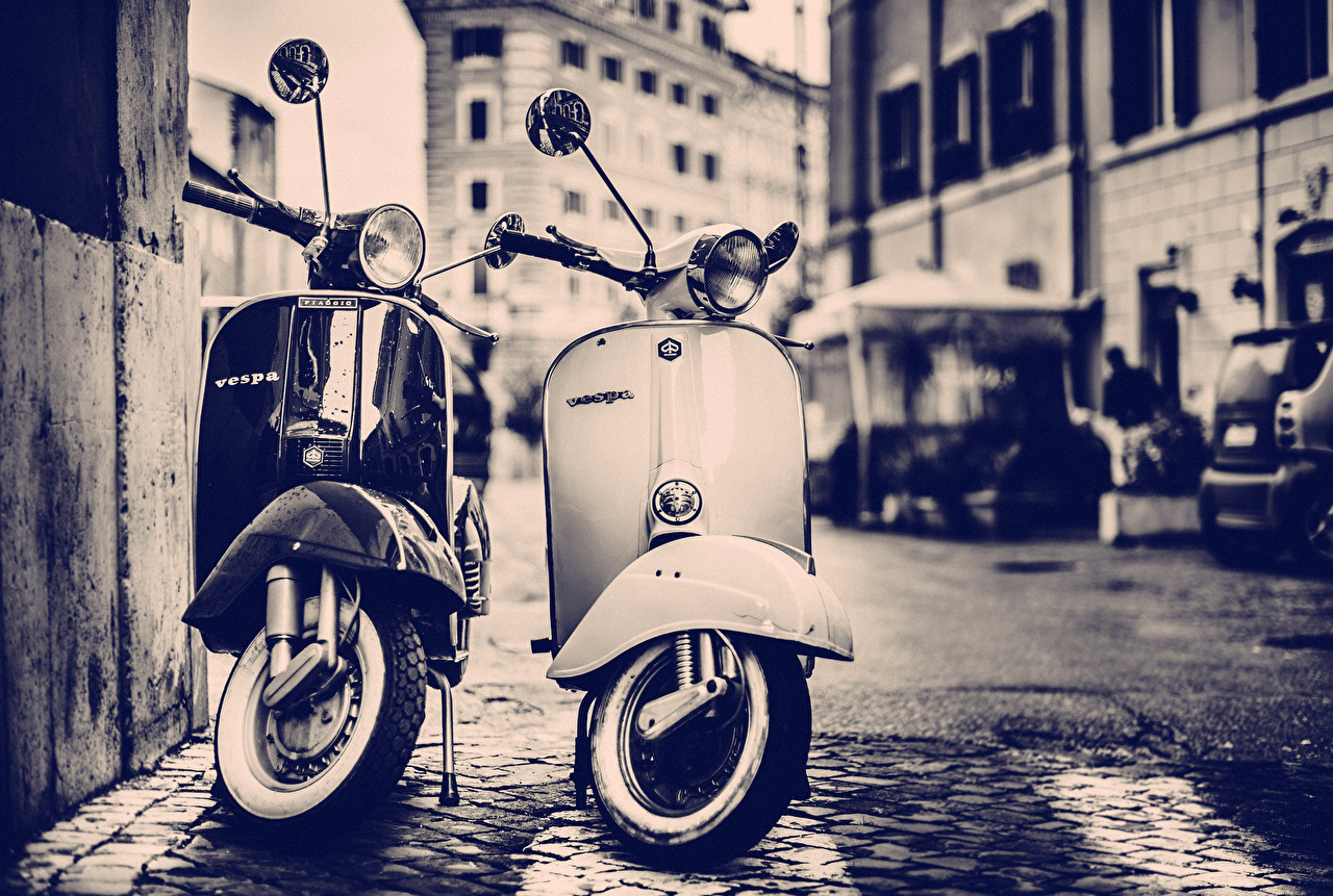 Fotos Motorroller Vespa Motorrad Motorräder
