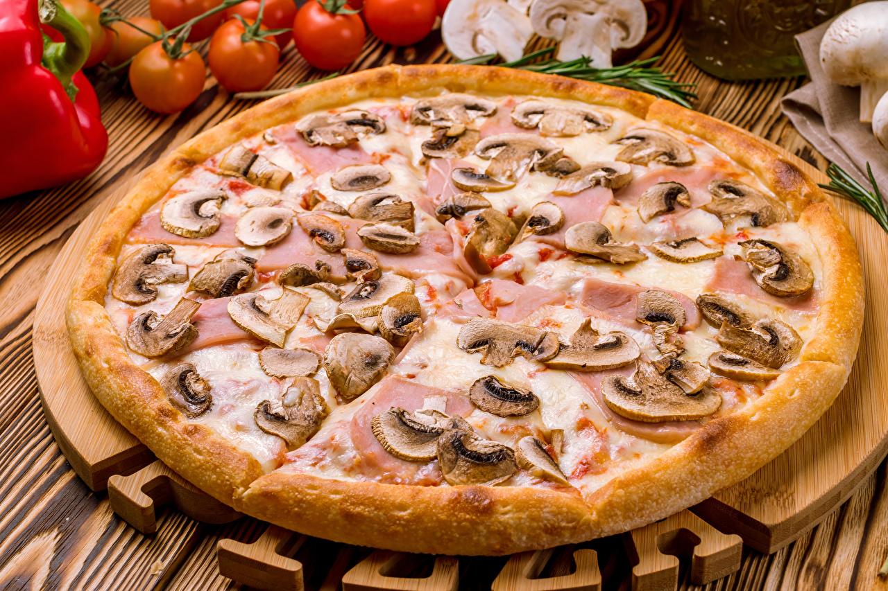Bilder von Pizza Pilze Fast food Lebensmittel
