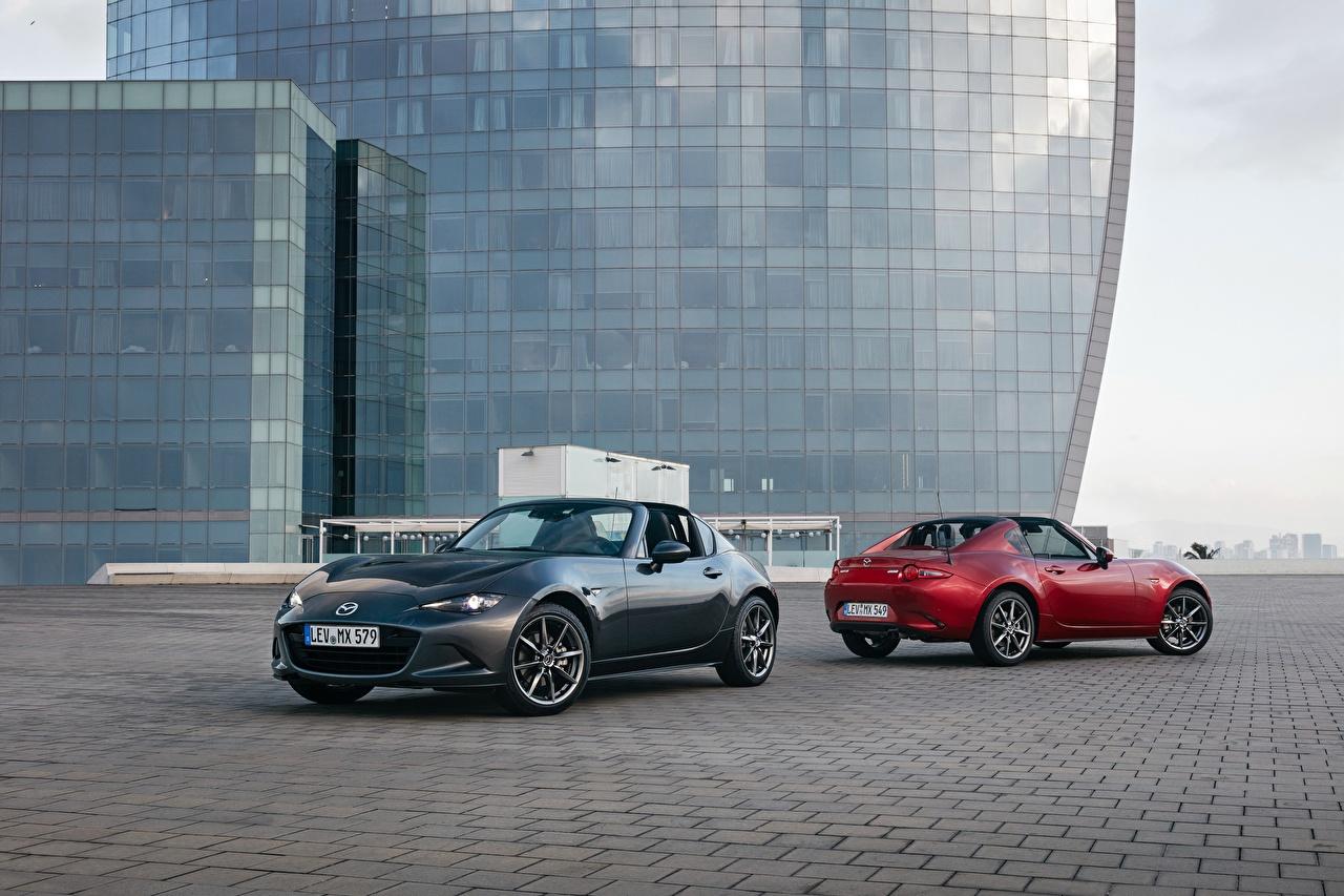 Photos Mazda 2016-17 MX-5 RF Worldwide Roadster Two Cars Metallic 2 auto automobile