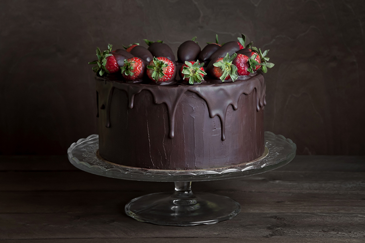 Images Chocolate Cakes Strawberry Food Sweets Torte confectionery
