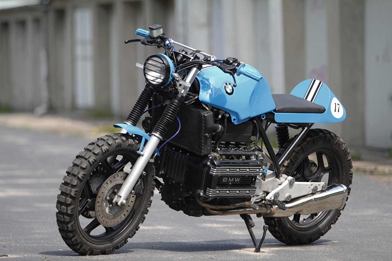 Pictures Tuning BMW - Motorcycle K100 RS Custom Light Blue Motorcycles Side motorcycle