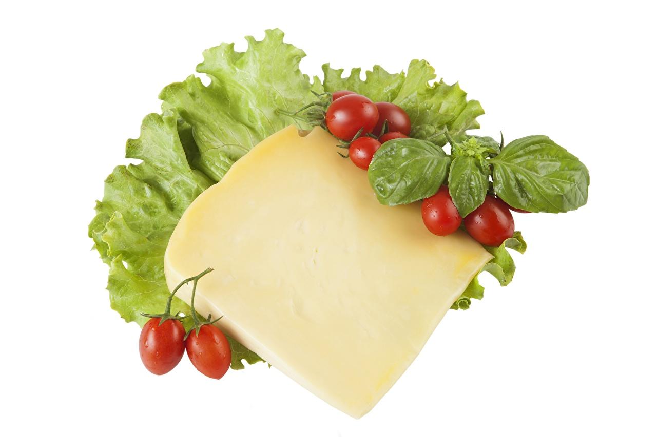 Skrivebordsbakgrunn tomat Ost stykker Mat Hvit bakgrunn Tomater Stykke