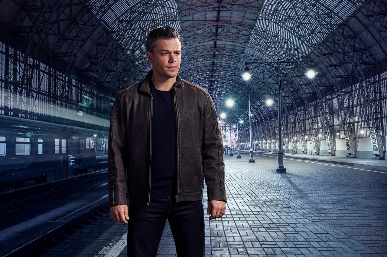 Foto Matt Damon Mann Jason Bourne Jacke Prominente