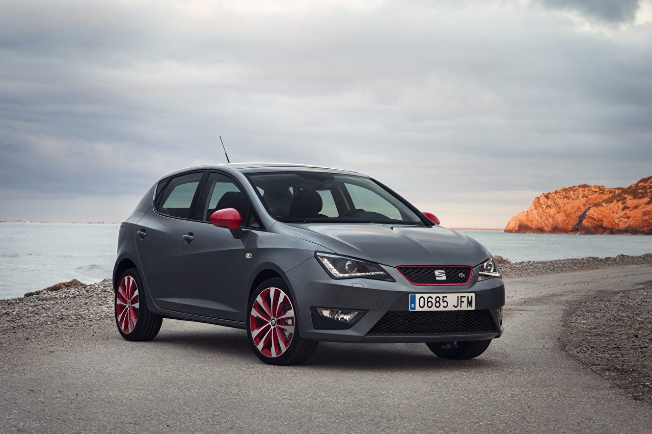 Fotos von Seat 2015 Ibiza Grau auto graue graues Autos automobil