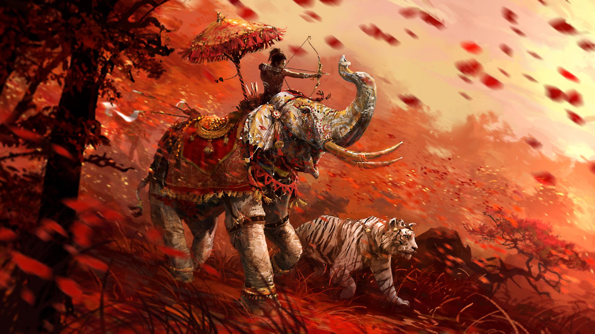 Fondos De Pantalla 1920x1080 Far Cry Elefantes Far Cry 4