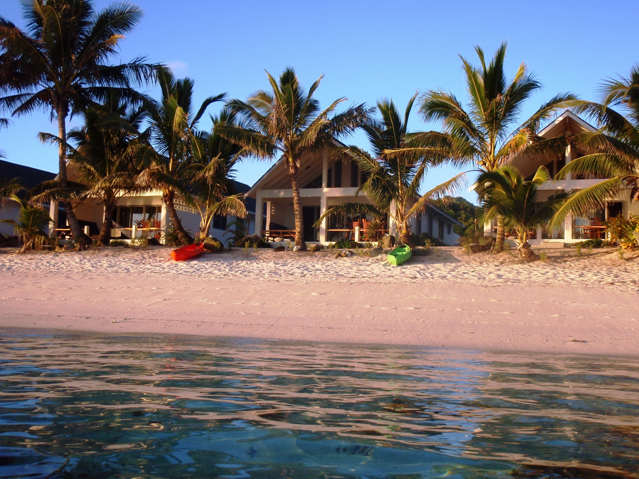 Pictures Resorts Bungalow Cook Islands Beach Palms Cities 2048x1536