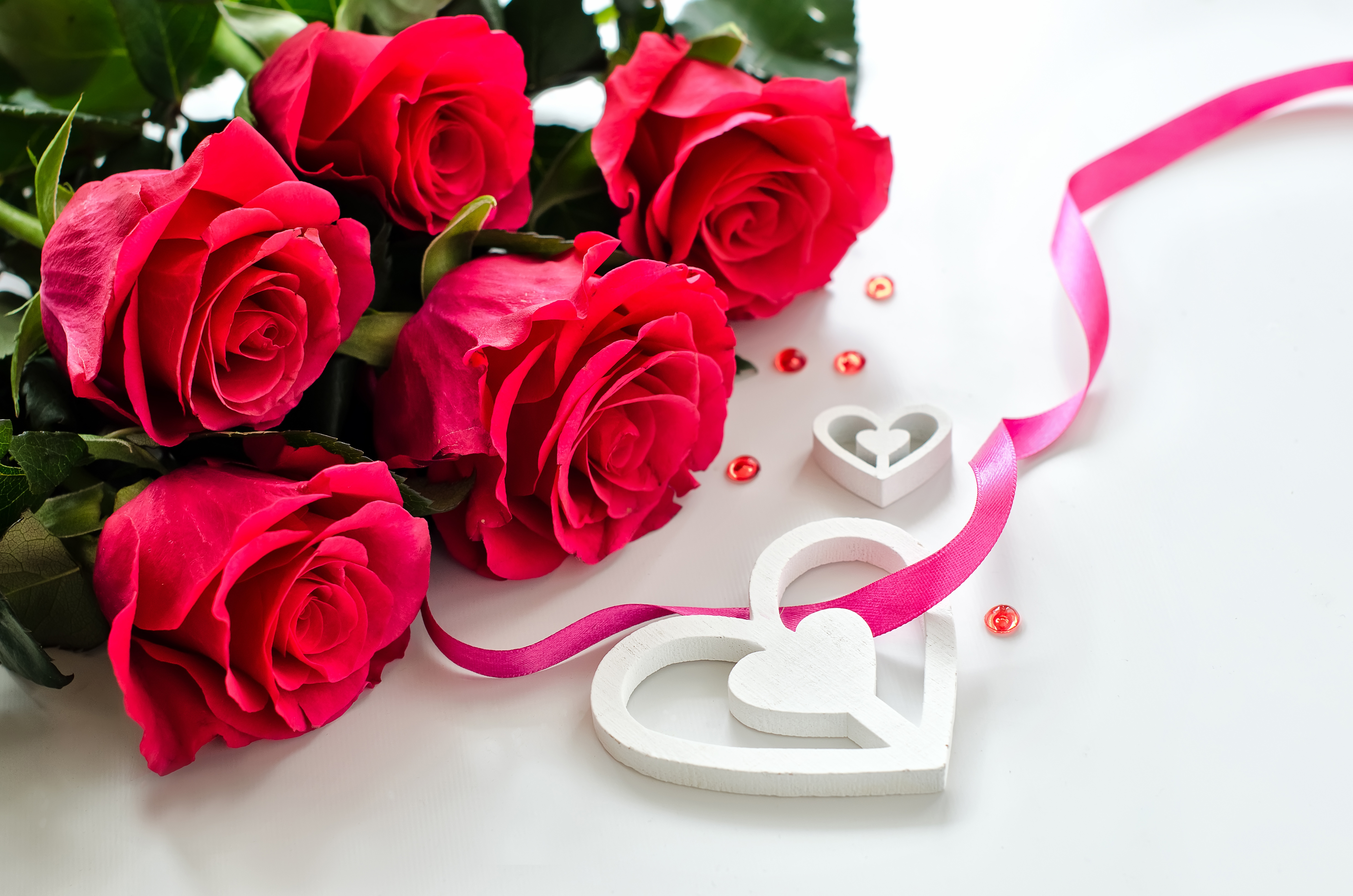 Desktop Wallpapers Valentine S Day Heart Red Rose Flowers