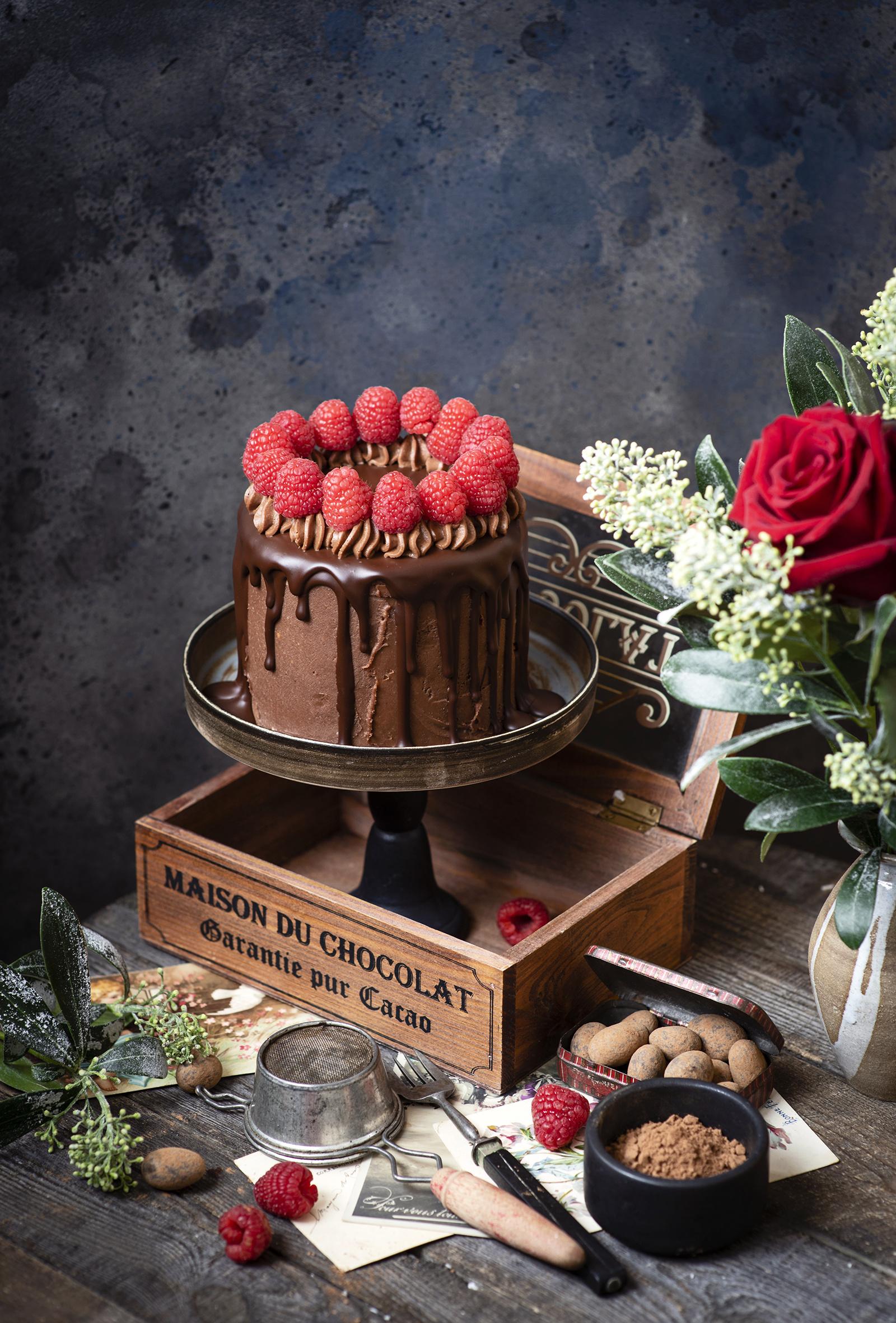 壁紙 ケーキ チョコレート ラズベリー デザイン ココアパウダー