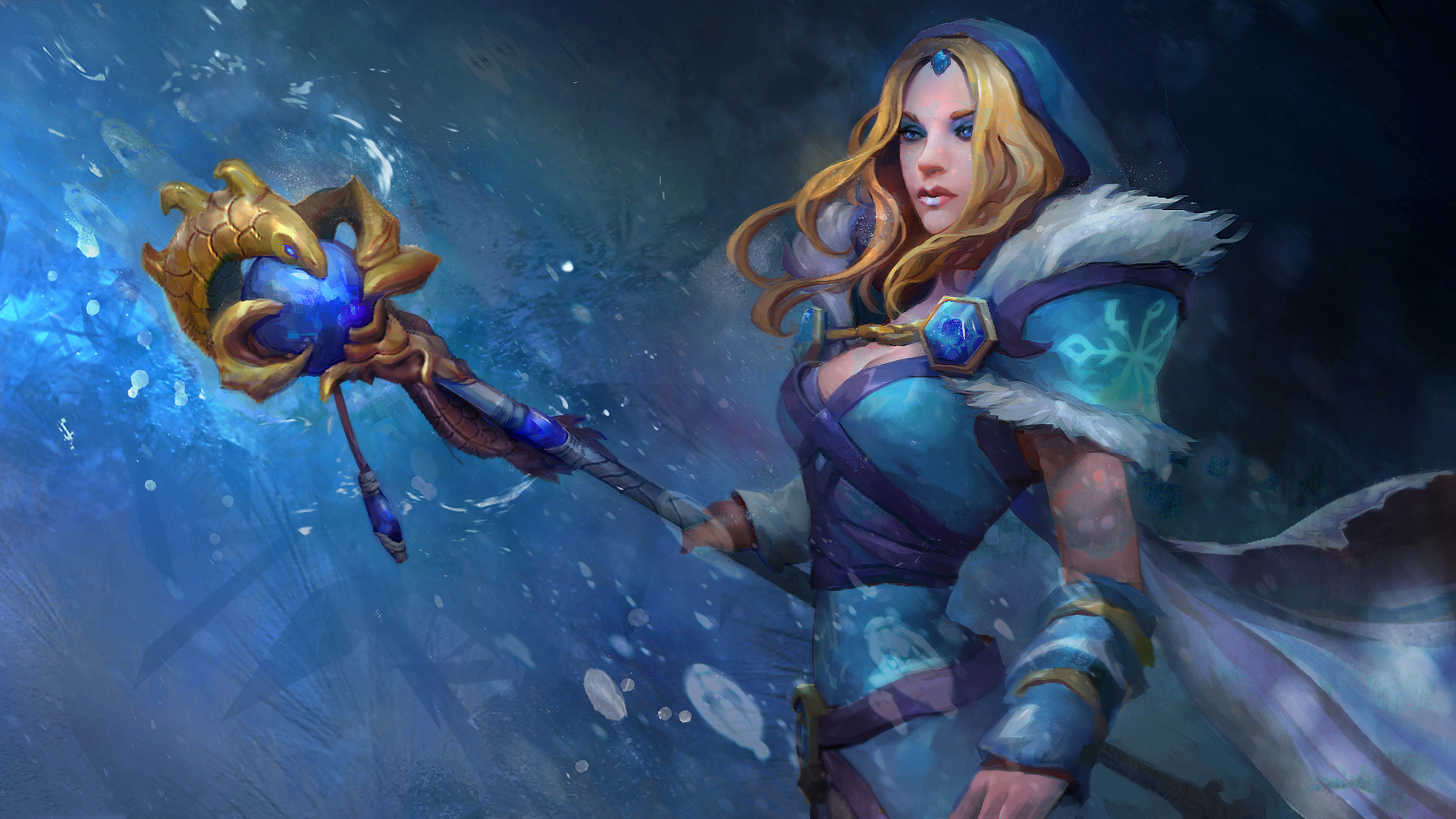 Images Dota 2 Crystal Maiden Mage Staff Girls Fantasy Vdeo