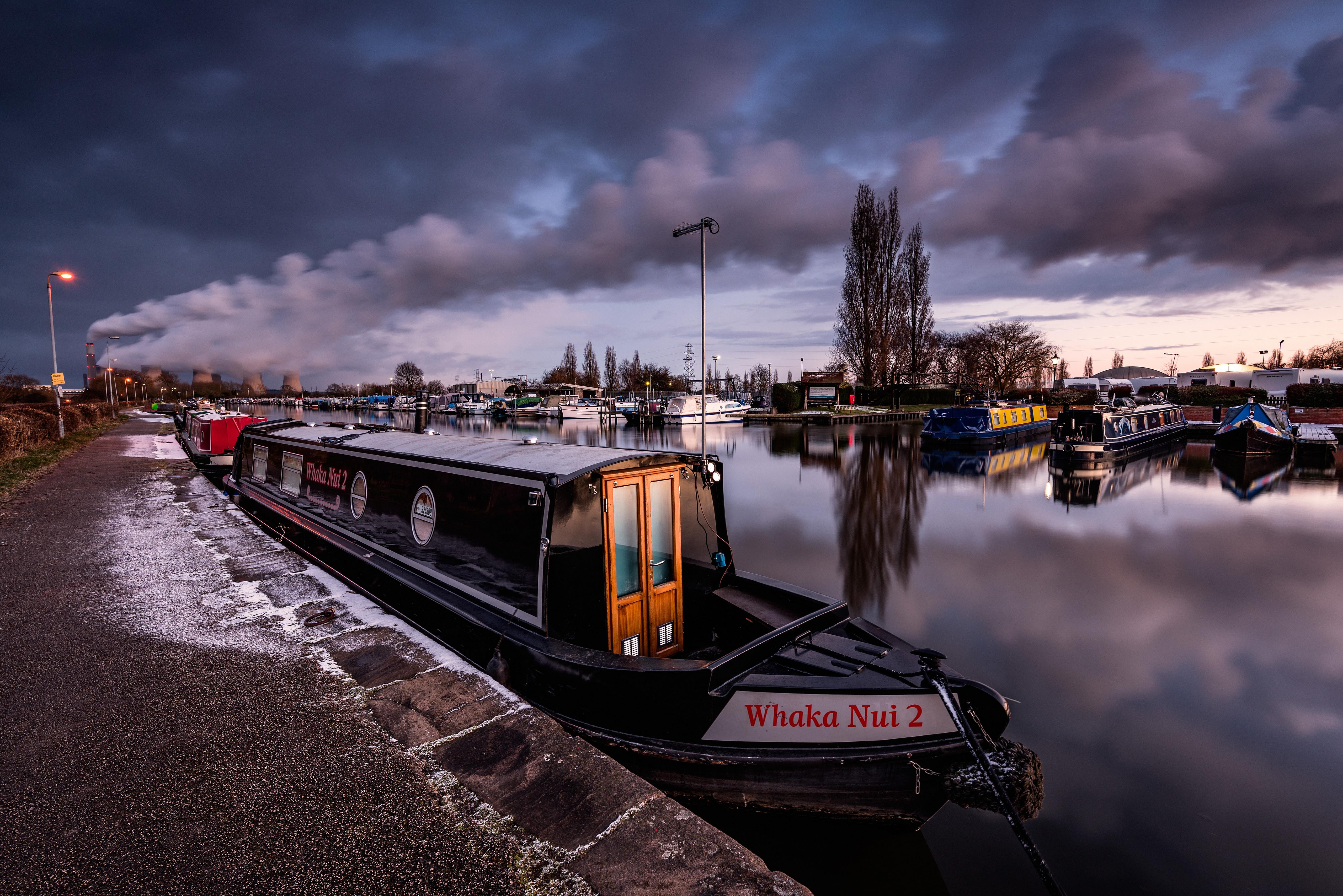 Foto Engeland Sawley Rivierschepen Rook rivier Waterfront een stad 5120x3418 Rivieren Steden