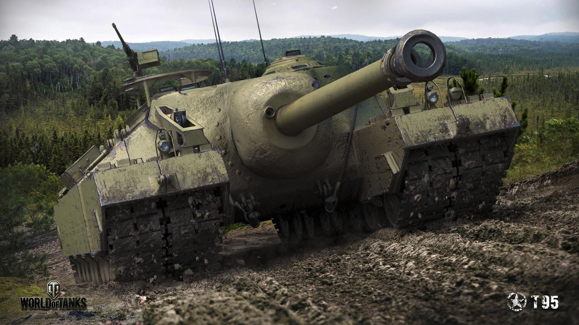 壁紙、1920x1080、ワールドオブタンクス、自走砲、T95、アメリカの、泥 ...