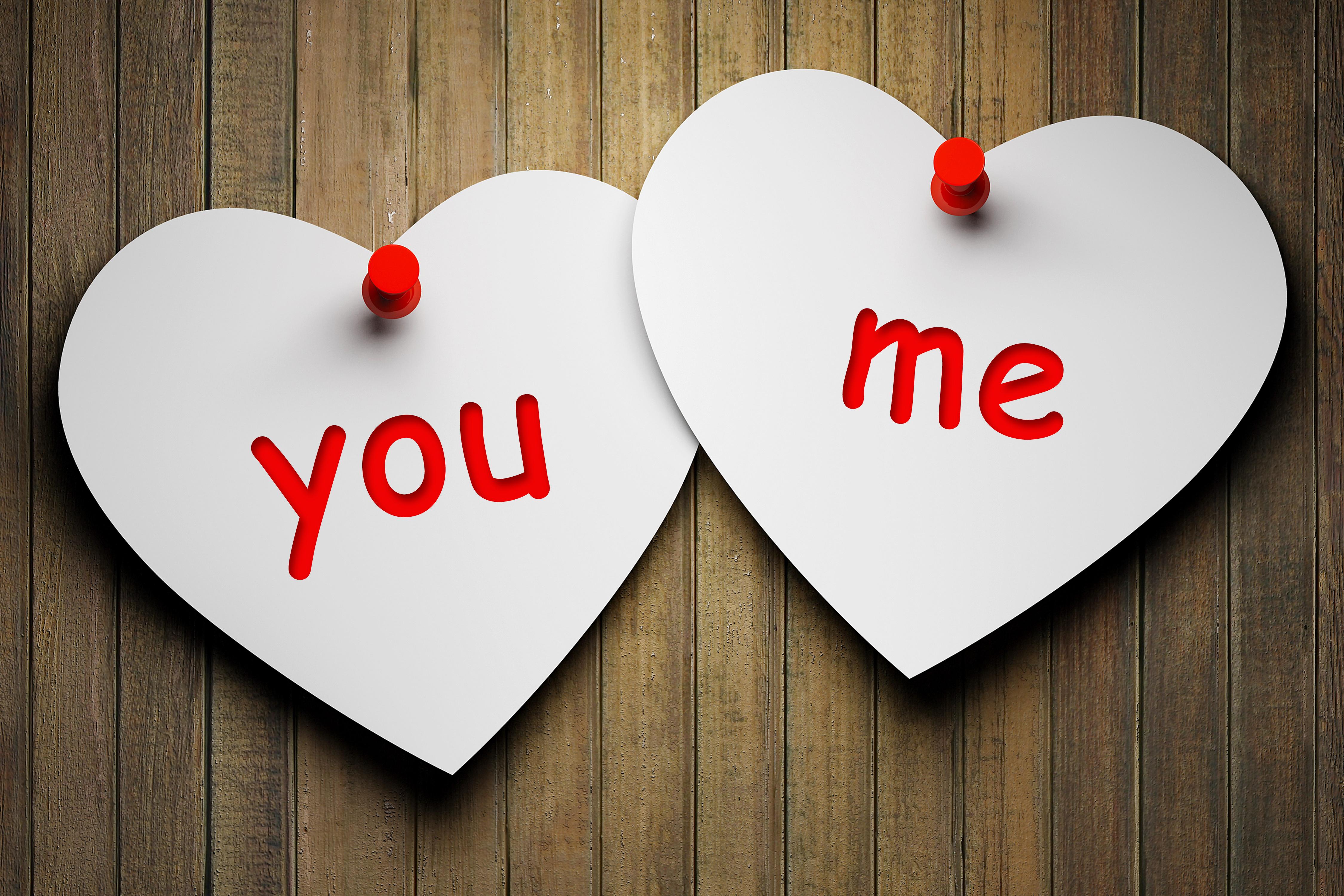 Fonds D Ecran 4500x3000 Amour You Me Deux Cœur Télécharger Photo