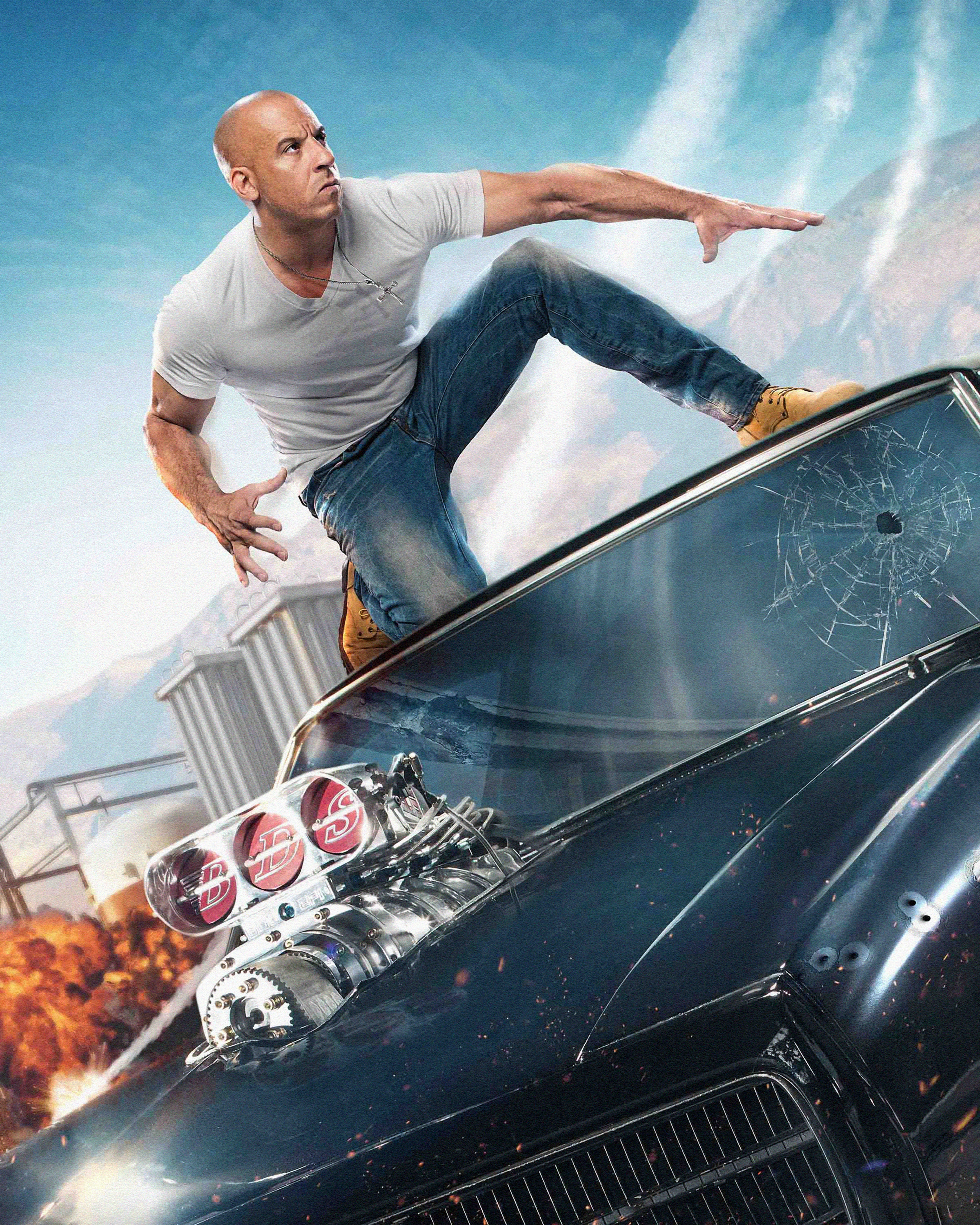 Pictures Fast Furious 8 Vin Diesel Man Movies 6000x7500
