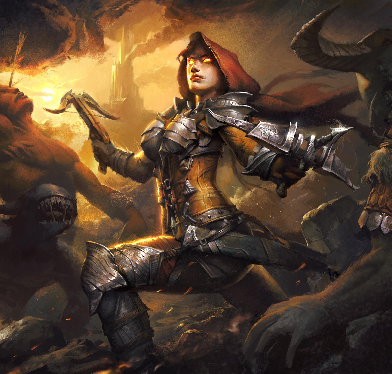 Photo Diablo Iii Armour Warriors Demon Hunter Arise 2480x2362