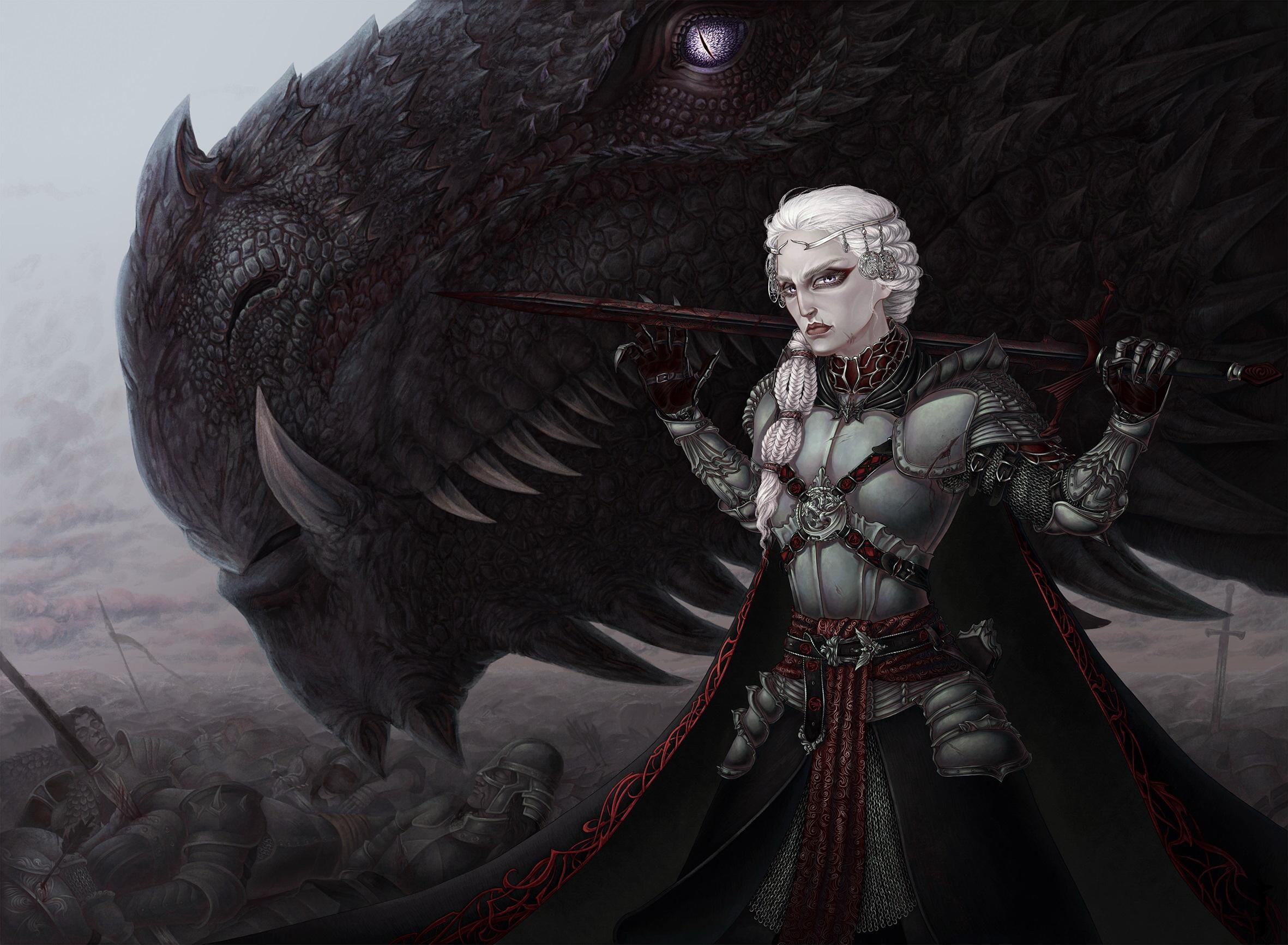Wallpaper Game Of Thrones Armor Dragons Warriors Fan Art 2362x1732