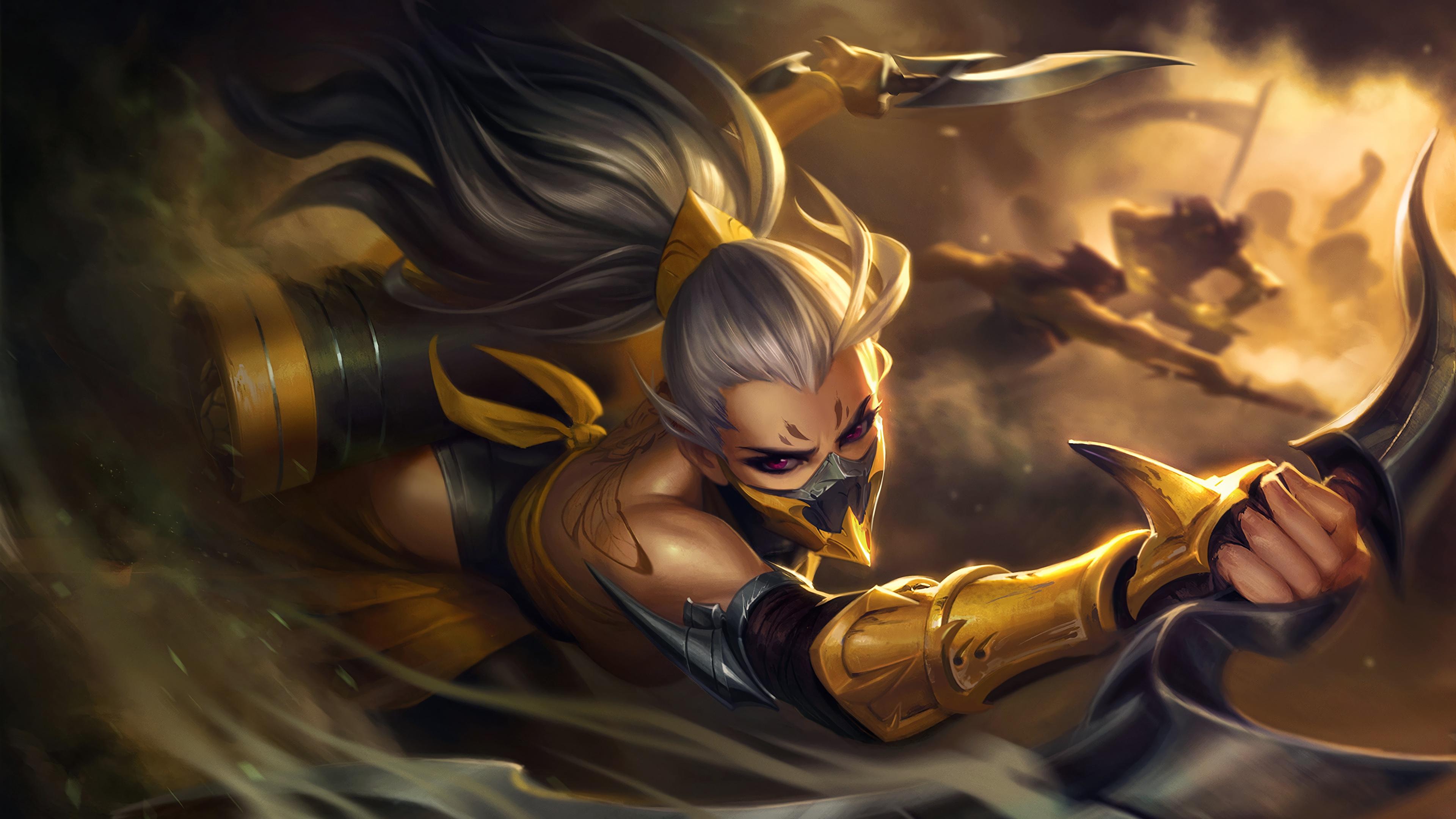Wallpaper Games Lol Warriors Splash Akali Dagger Assassin