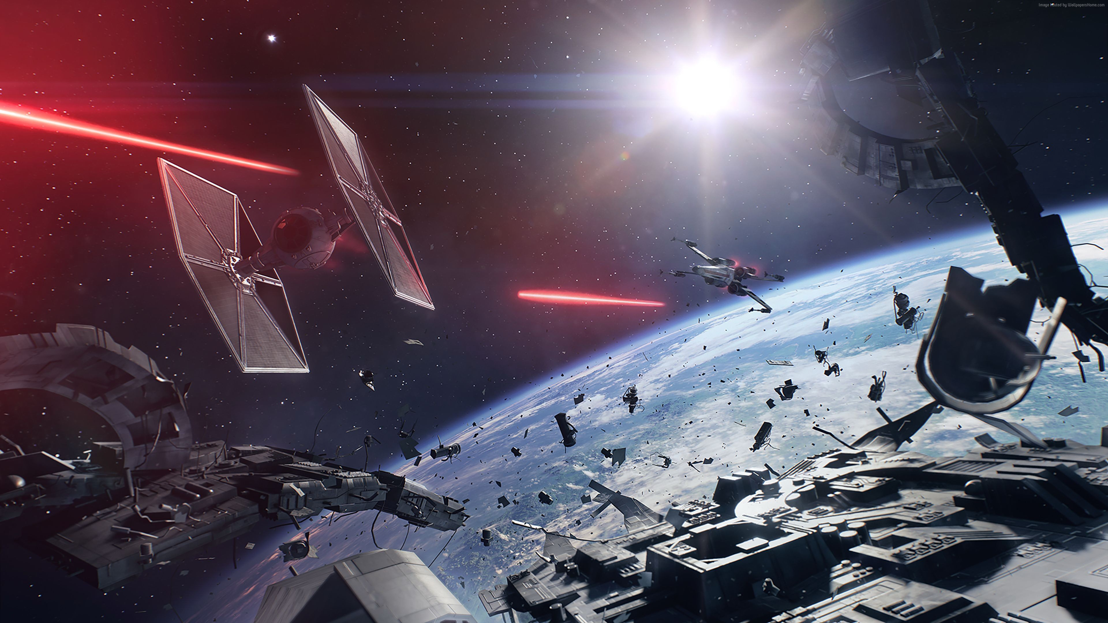 Desktop Wallpapers Star Wars Battlefront Ii 2017 Starship 3840x2160