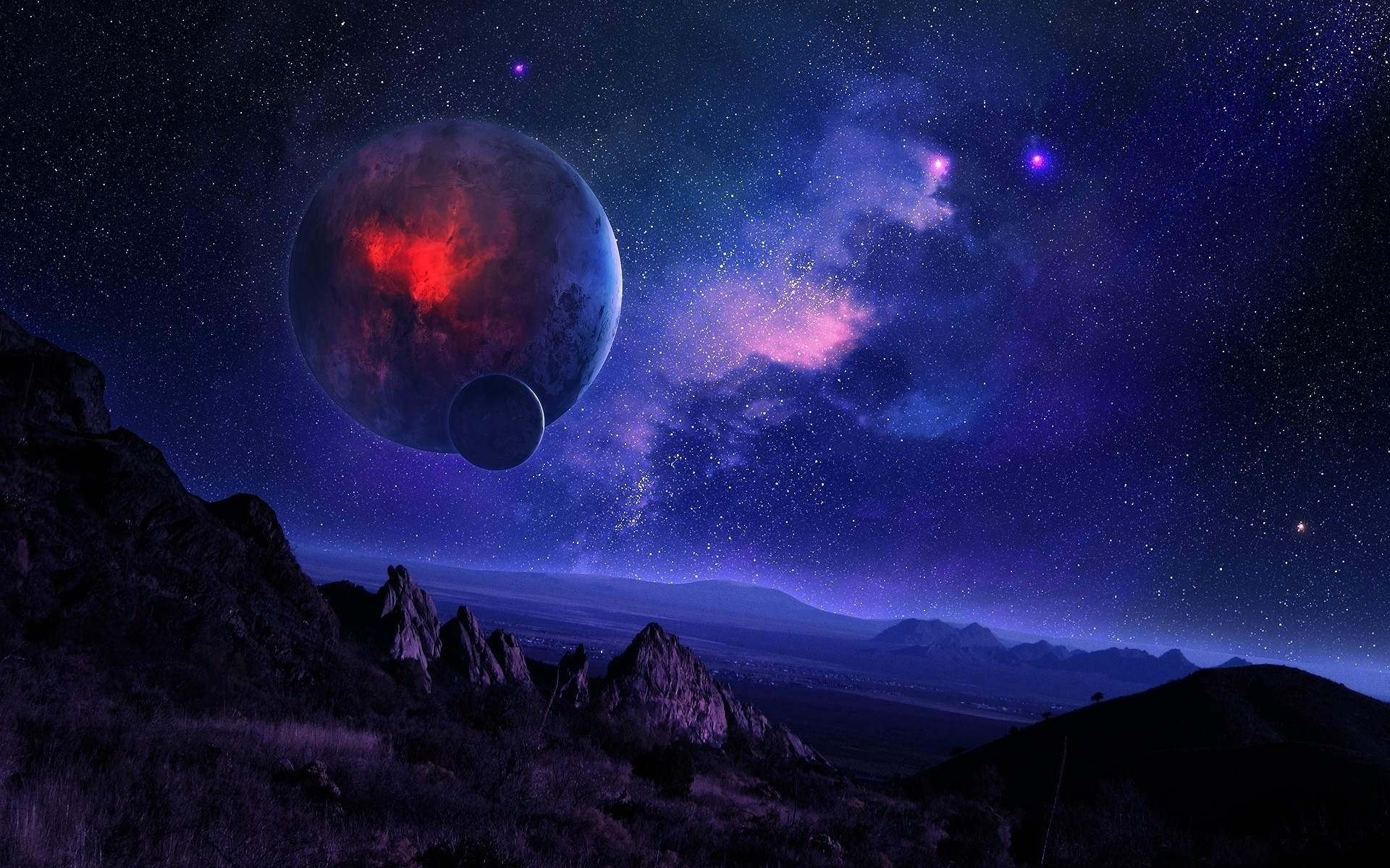 Planeten Himmel