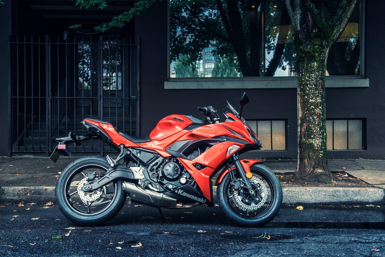 壁紙 3000x00 川崎重工業 16 Ninja 650 側面図 赤 ストリート オートバイ ダウンロード 写真