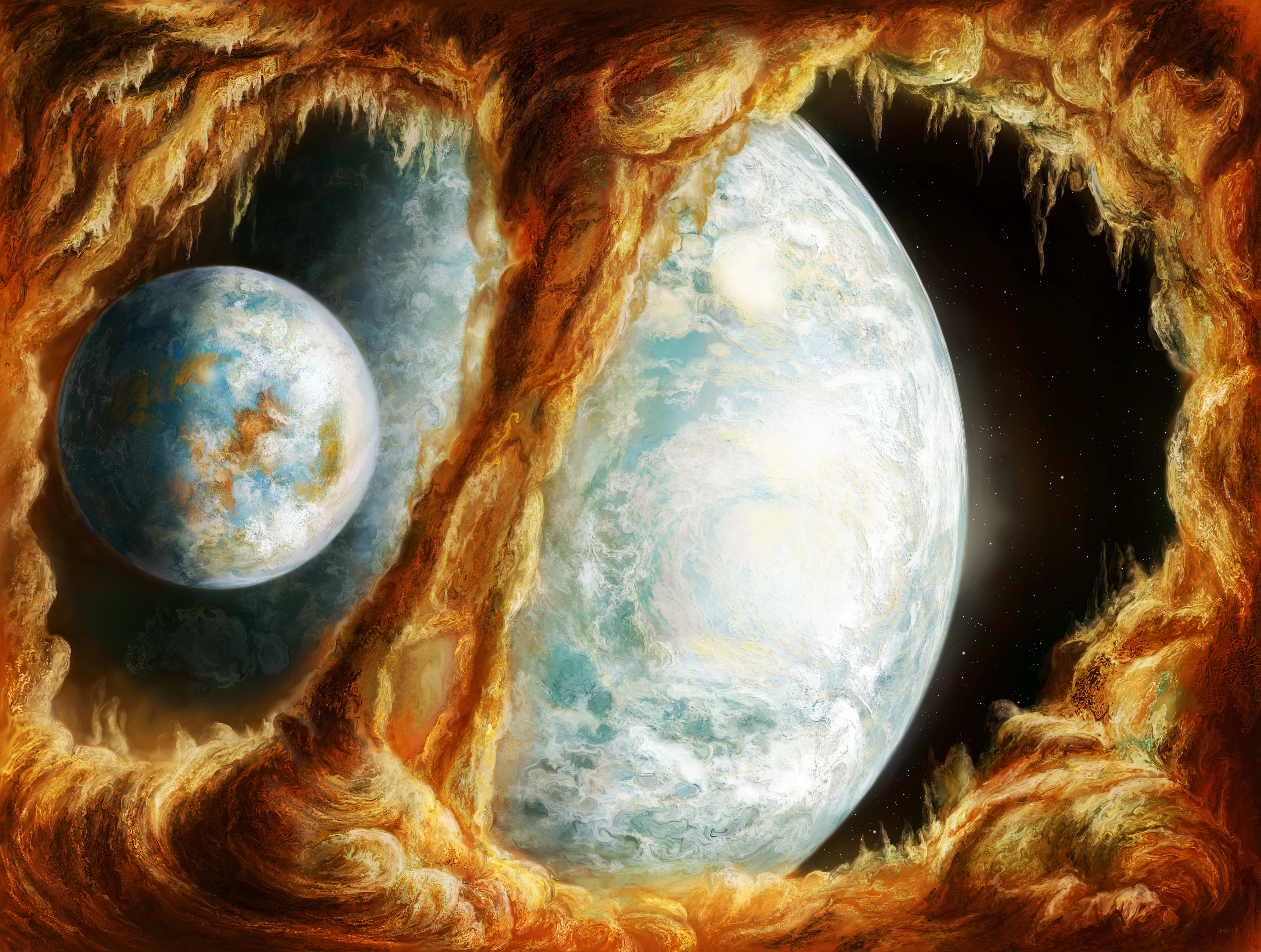 Image planet Space Fantasy 9000x6793 Planets
