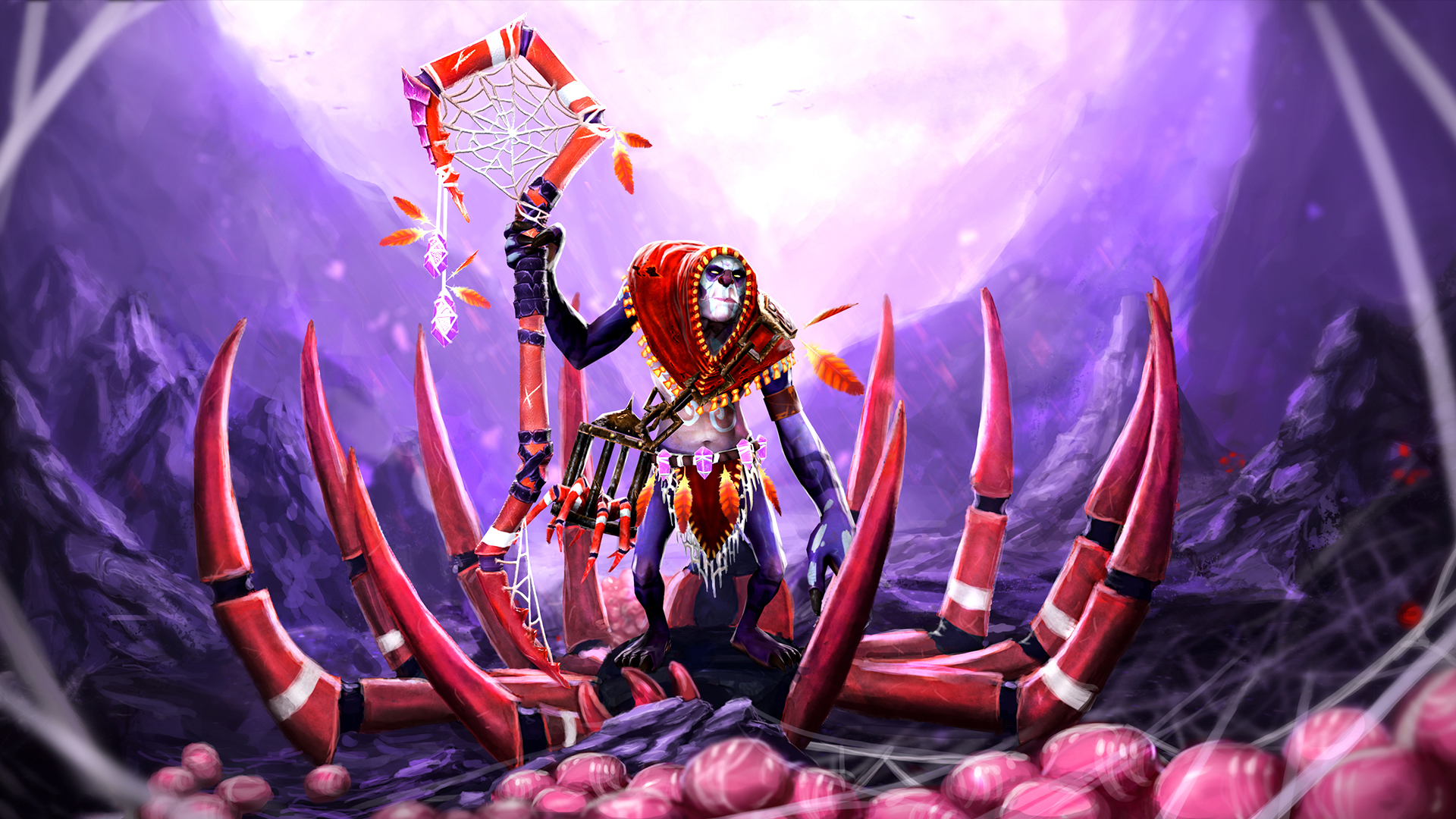 Images DOTA 2 Witch Doctor Mage Staff Monsters Fantasy 1920x1080