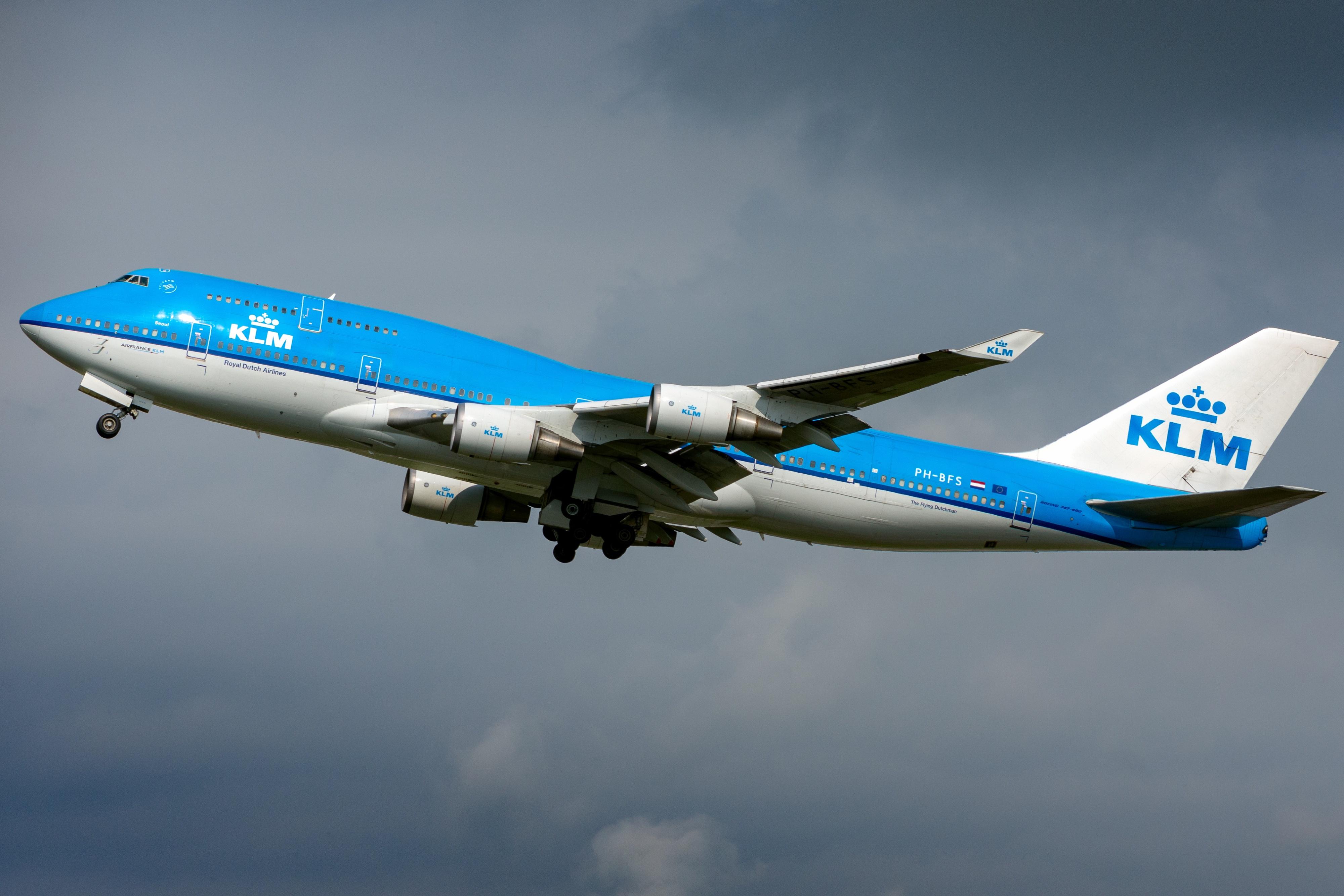 zdjęcia Boeing Samoloty Samolot pasażerski KLM 747-400M Lotnictwo 4000x2667 samolot