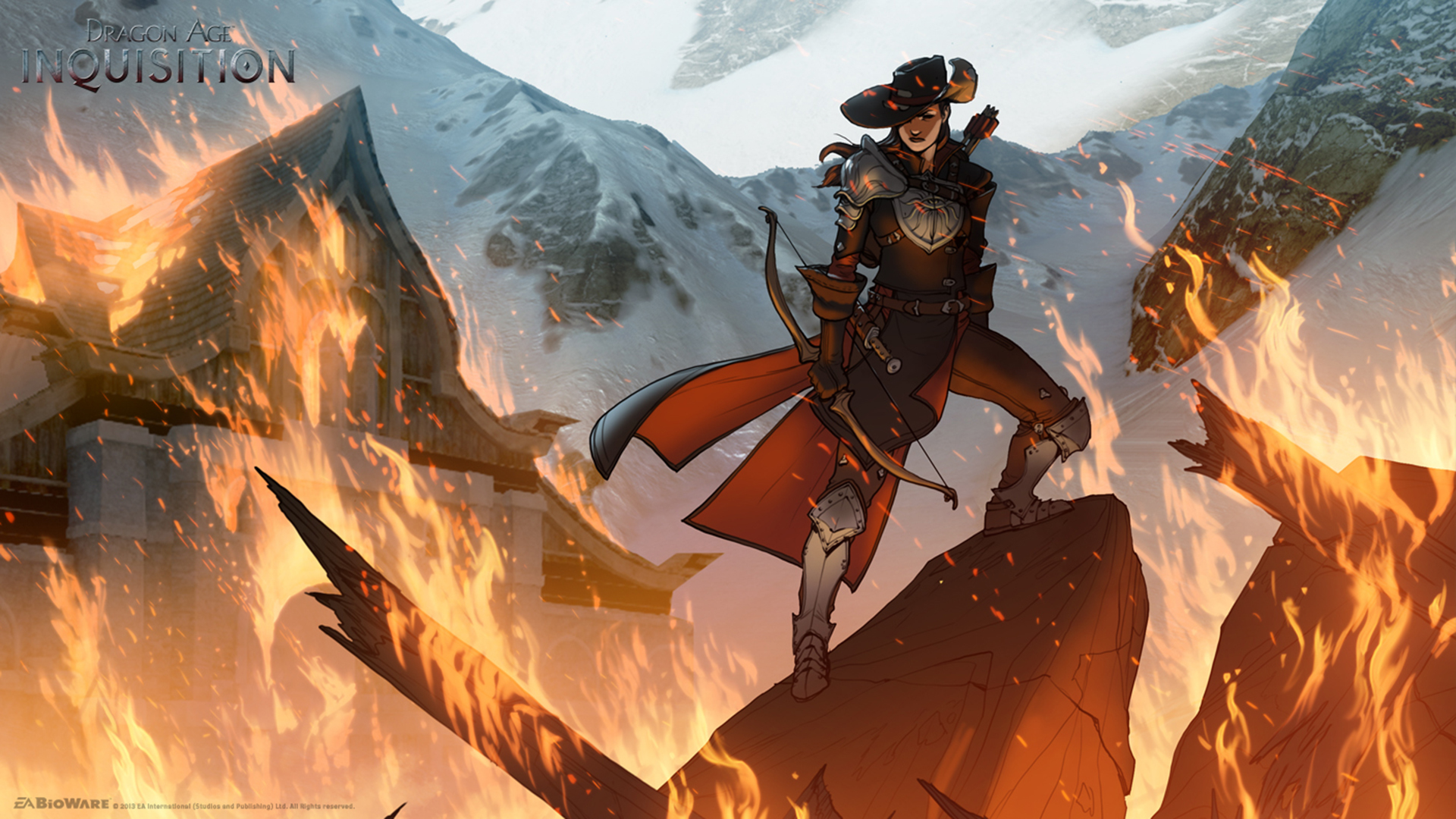 Photos Dragon Age Archers Inquisition Chaos Fantasy Flame 1920x1080