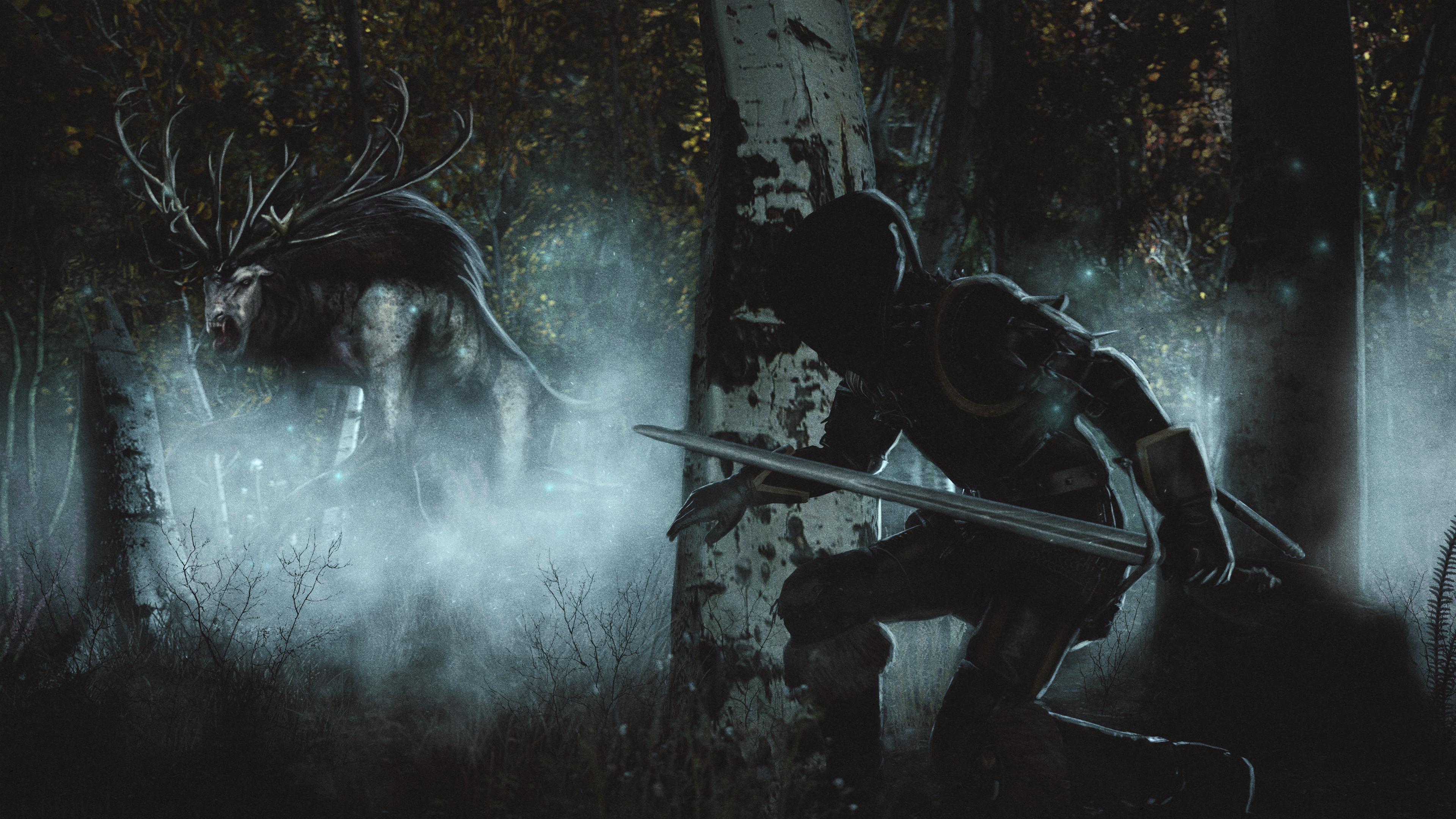 Wallpaper The Witcher 3 Wild Hunt Swords Geralt Of Rivia 3840x2160