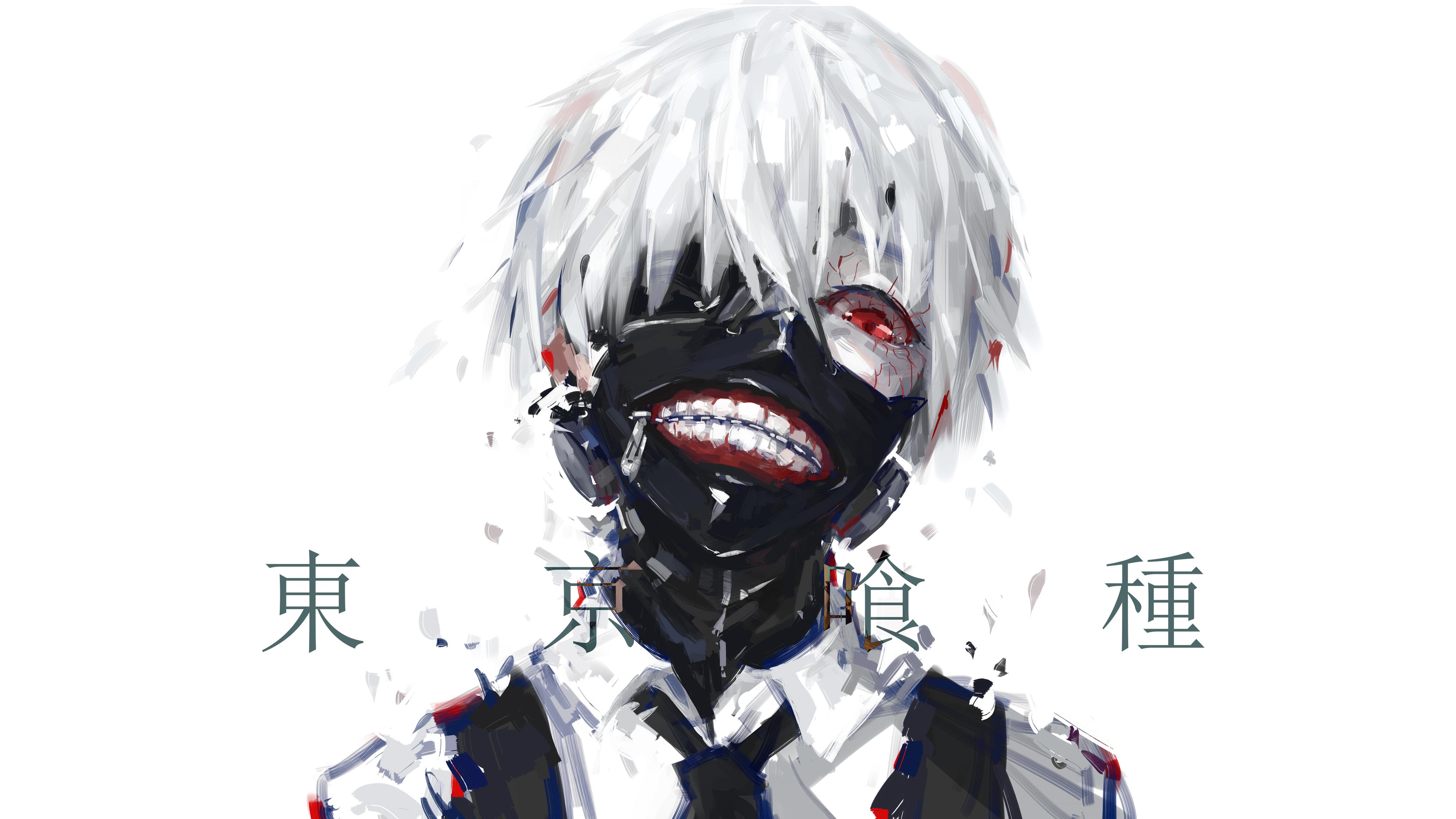 壁紙 4096x2304 仮面 東京喰種トーキョーグール 若者 アニメ
