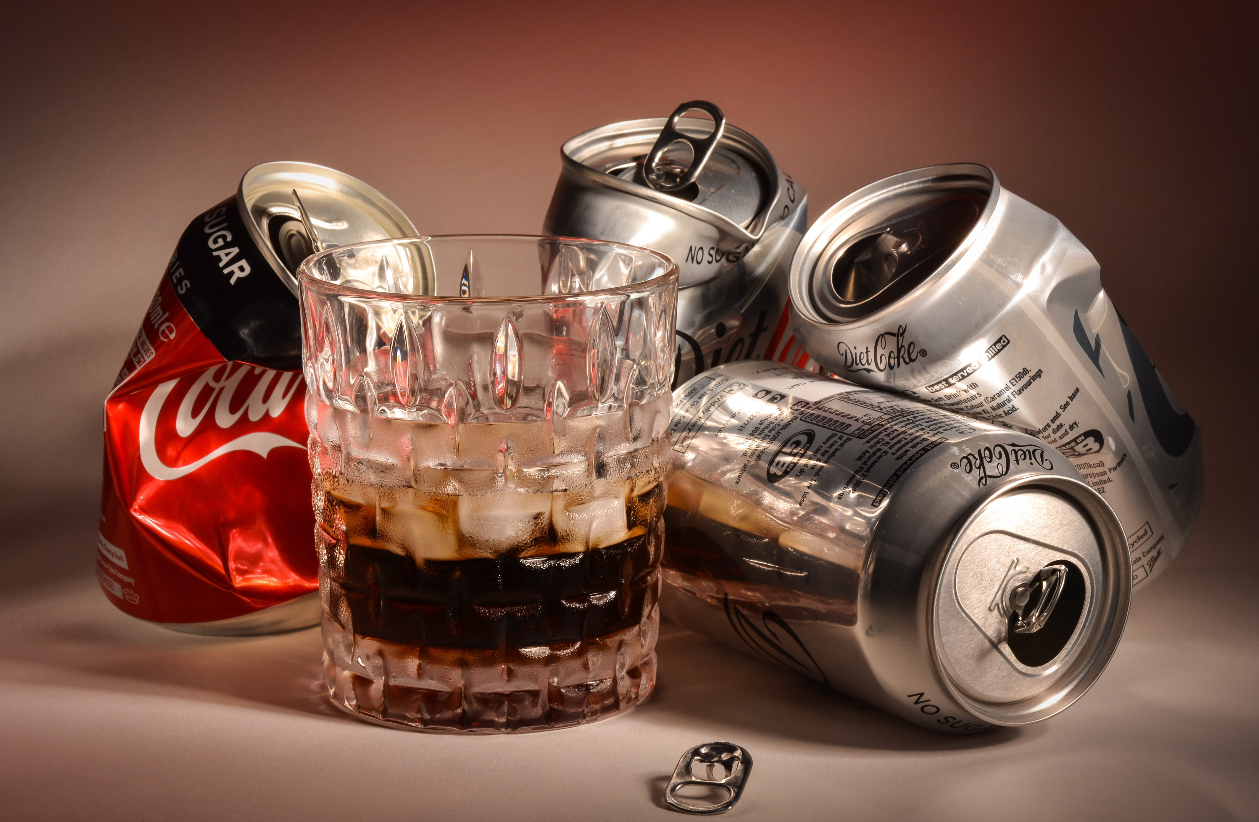 Images Coca-Cola tin can Highball glass Food Drinks 4255x2778 drink