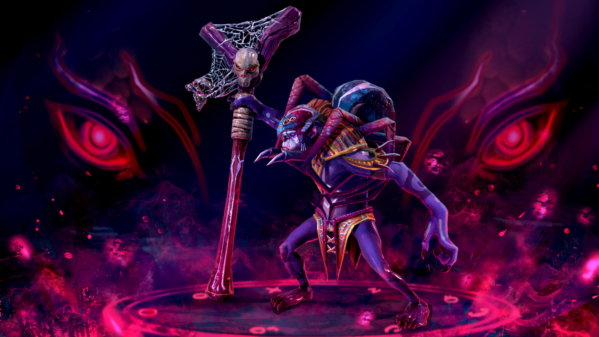 Picture DOTA 2 Witch Doctor Skulls sorcery Mage Staff 1920x1080