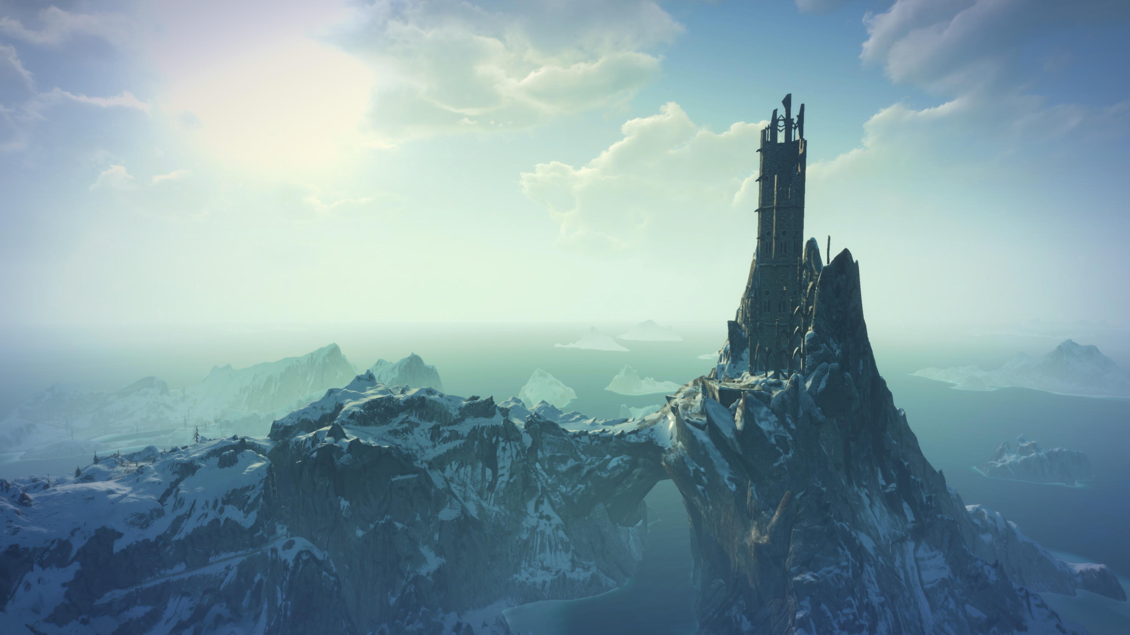 Desktop Hintergrundbilder The Witcher 3: Wild Hunt Spiele Ruinen 3840x2160 computerspiel