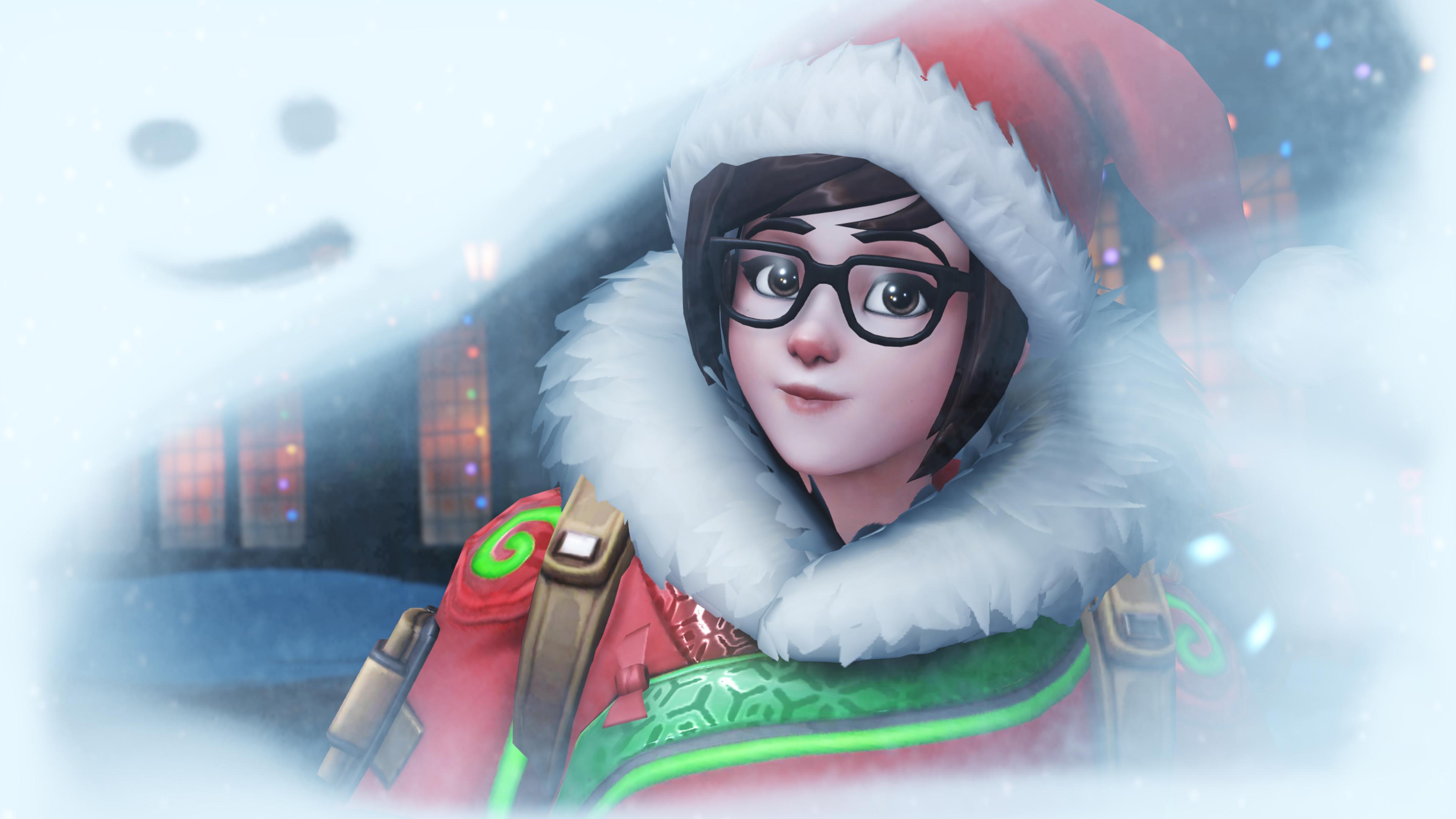 Overwatch Christmas.Pictures Overwatch Christmas Winter Wonderland Female 3840x2160