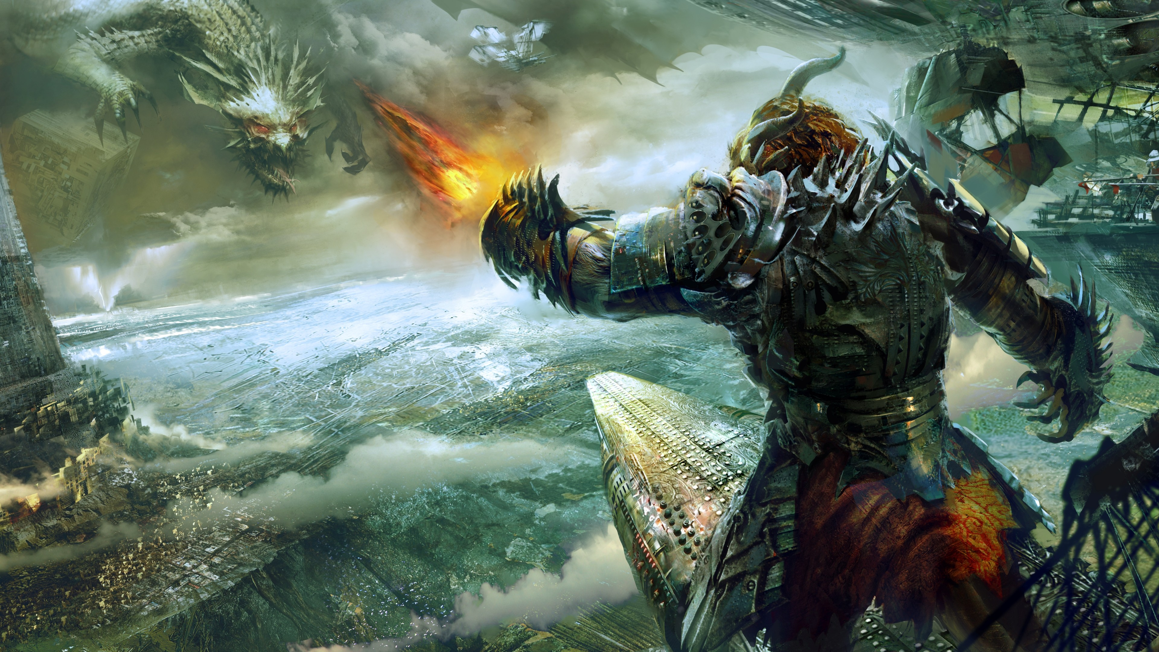 Pictures Guild Wars Guild Wars 2 Armor Dragons Monsters 3840x2160