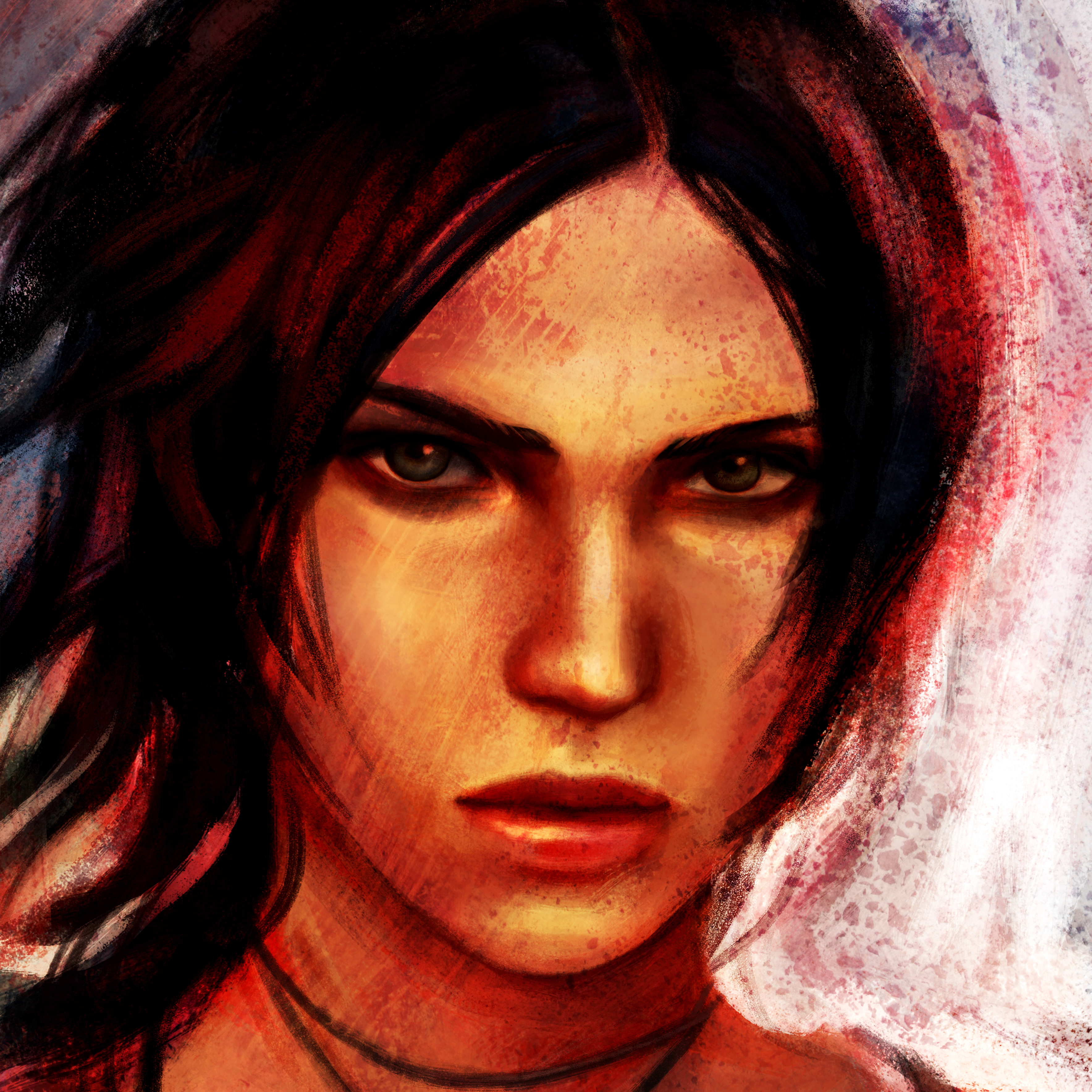 Pictures Tomb Raider 2013 Lara Croft Face Girls Vdeo Game 3535x3535