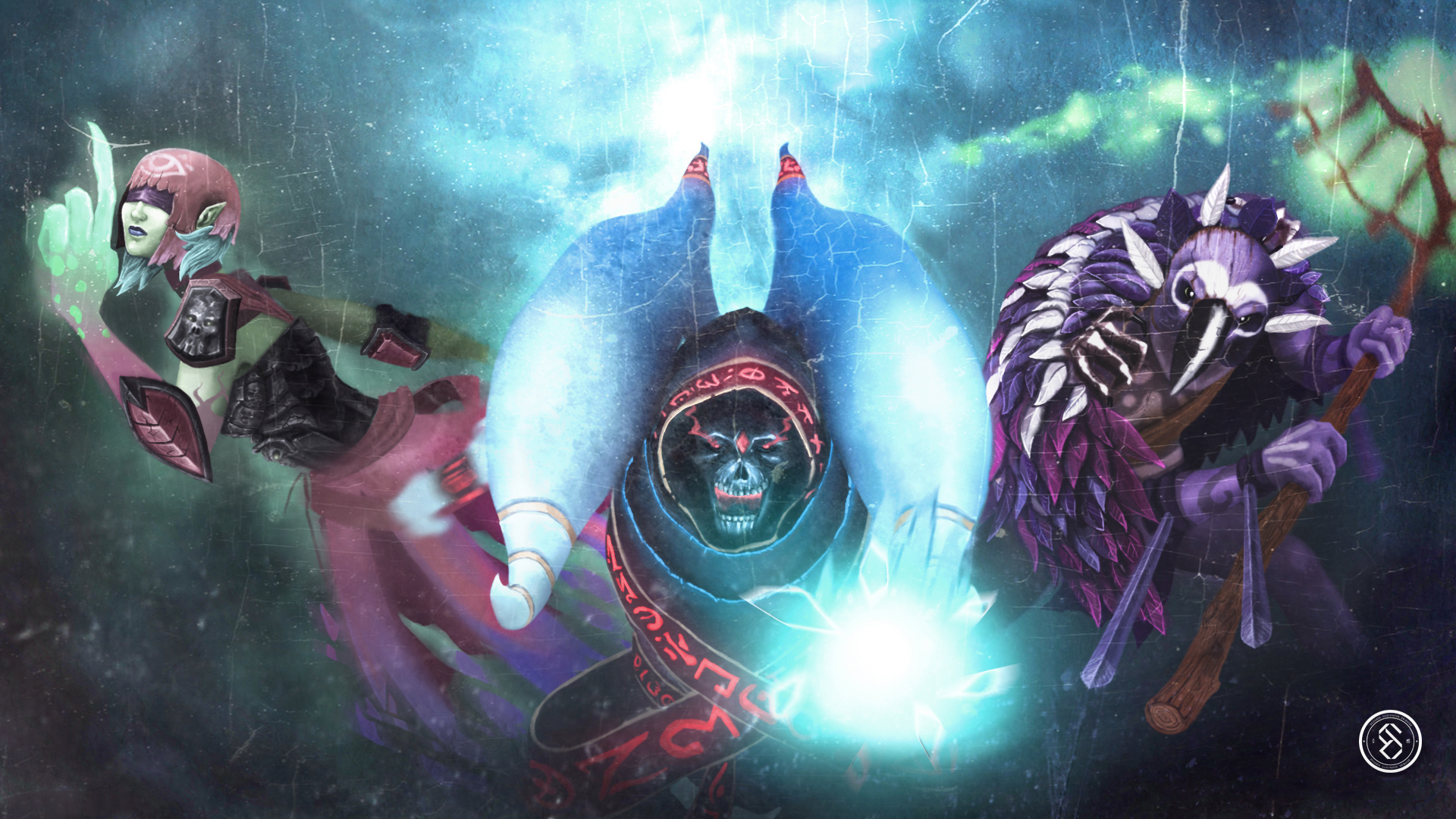Photos Dota 2 Lich Witch Doctor Death Prophet Monster 1920x1080