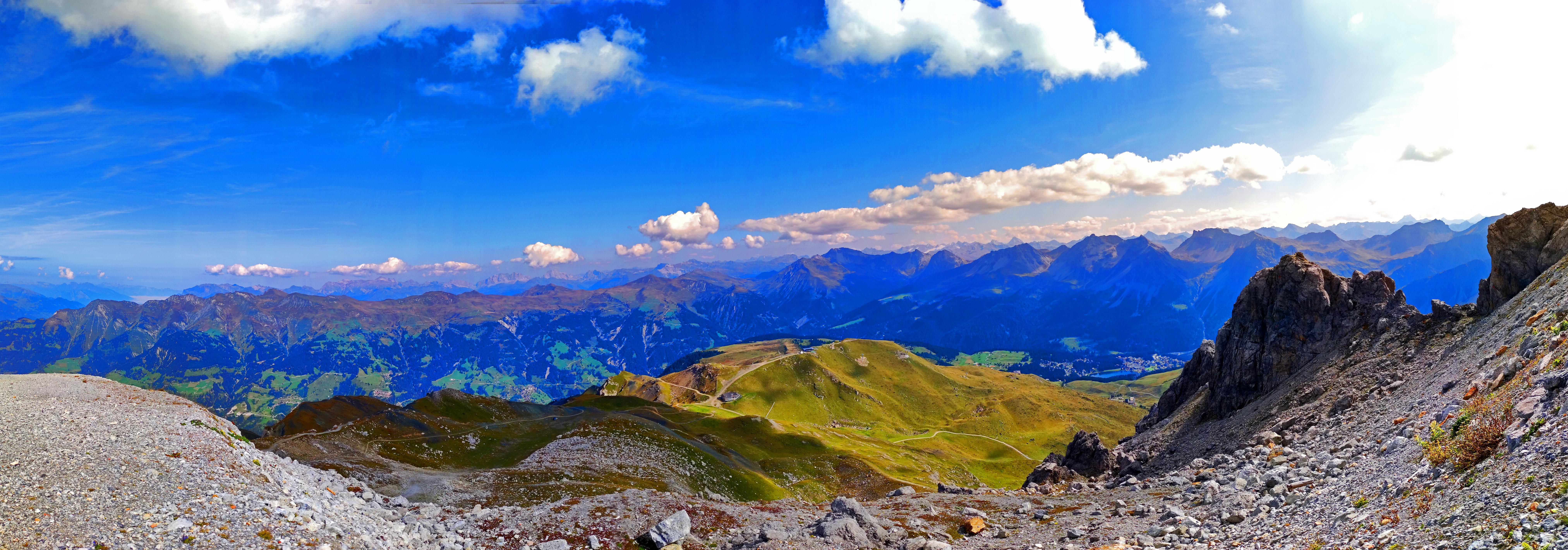 Bilder von Alpen Schweiz Panorama Natur Gebirge Himmel Wolke 8100x2839 Panoramafotografie Berg