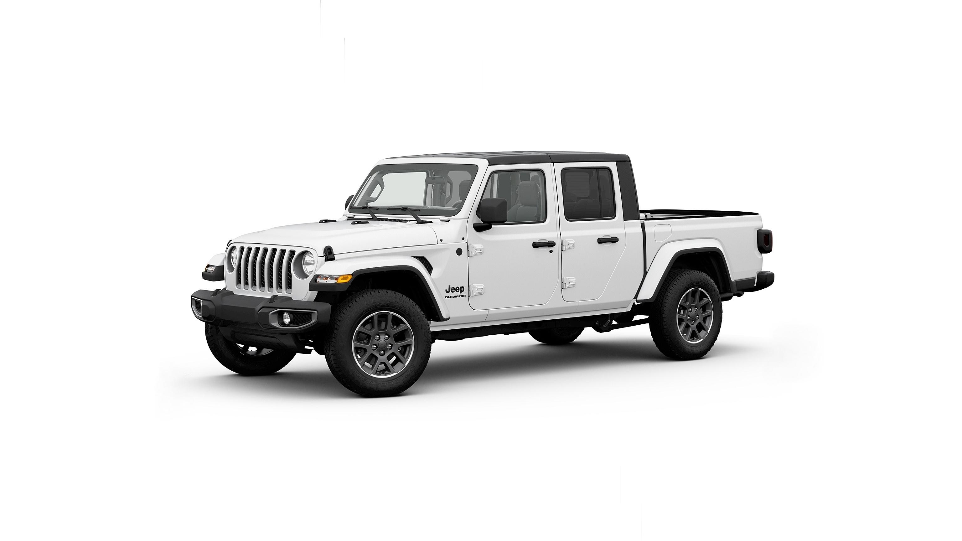 Image Jeep Gladiator, 2020 Pickup White Side automobile White background auto Cars