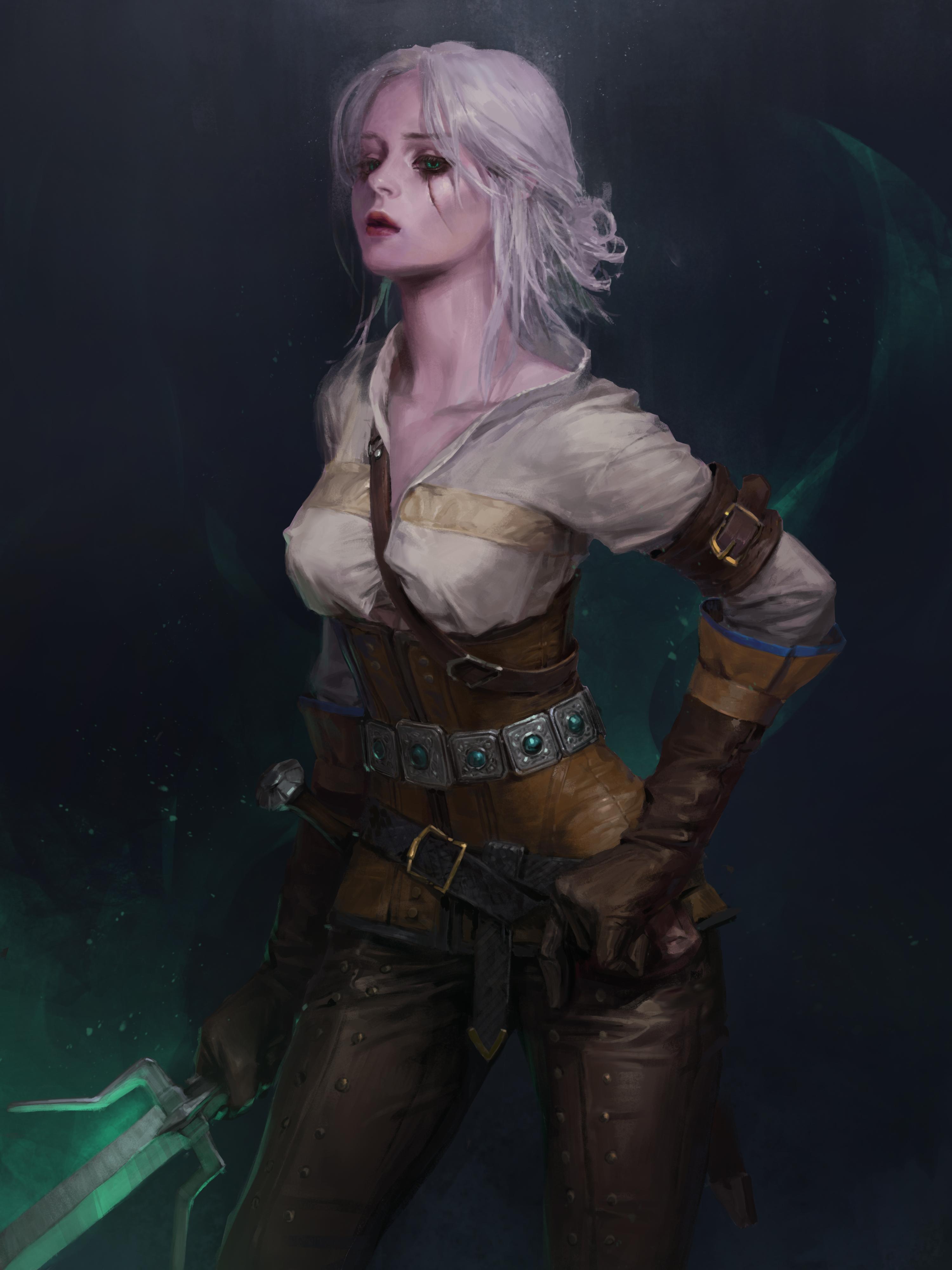 Desktop Wallpapers The Witcher 3 Wild Hunt Blonde Girl 3000x4000