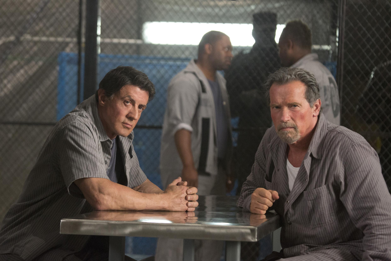Foto's Escape Plan Sylvester Stallone Arnold Schwarzenegger een man Films Beroemdheden 2480x1653 Mannen film