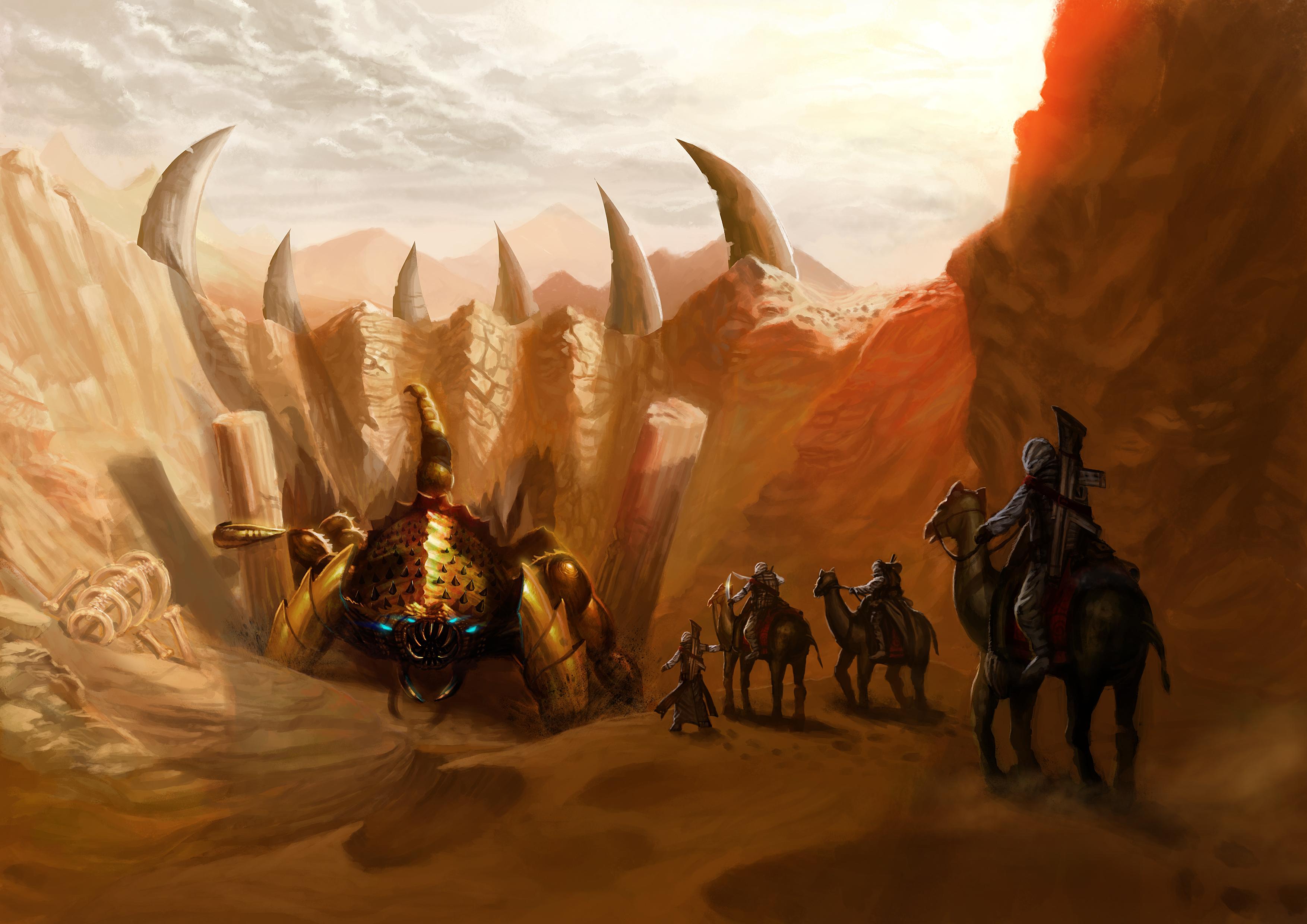 Desktop Wallpapers Monster Warriors Desert Scorpion 3508x2480