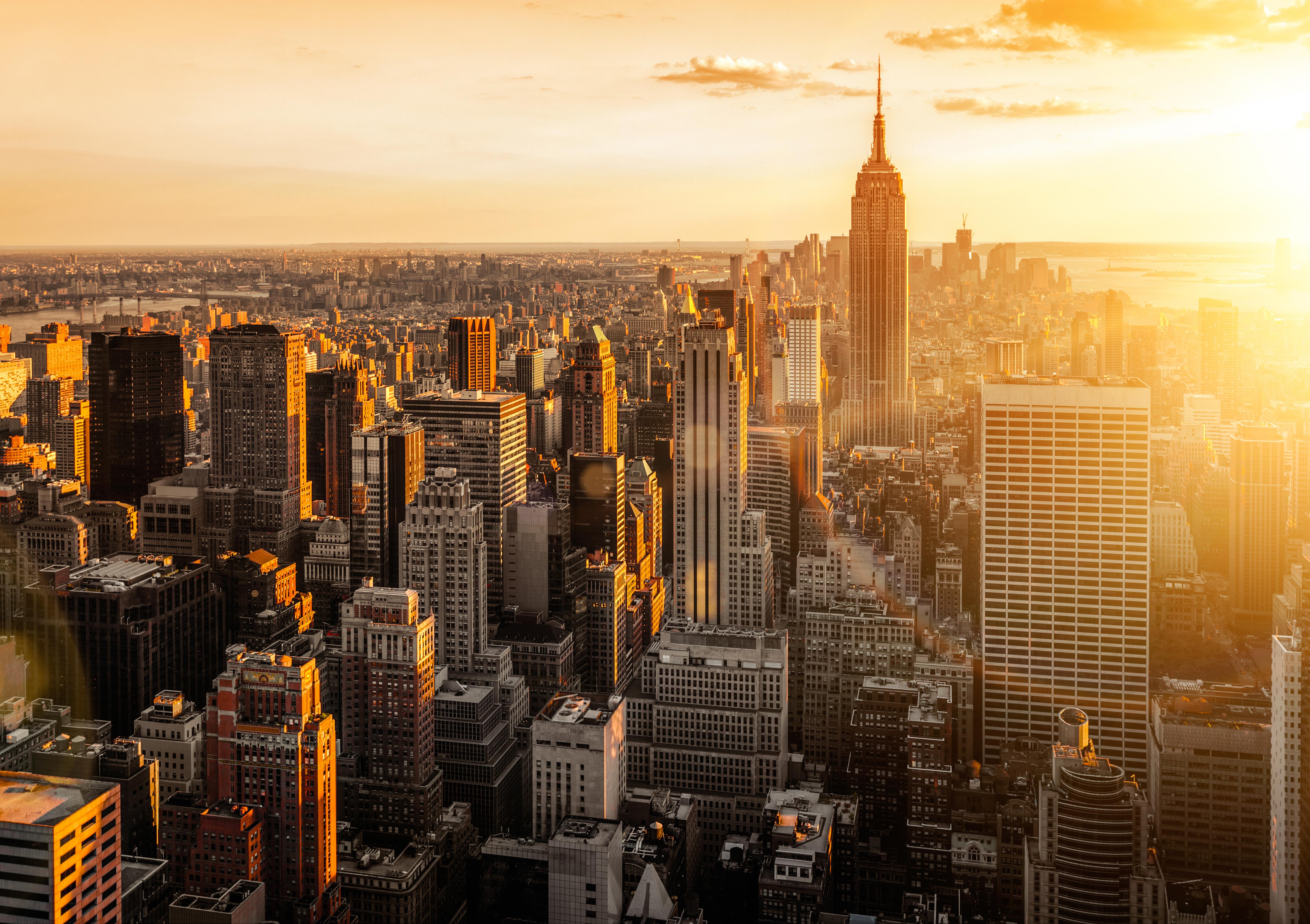 Images New York City USA megalopolis Manhattan Cities Houses Megapolis Building
