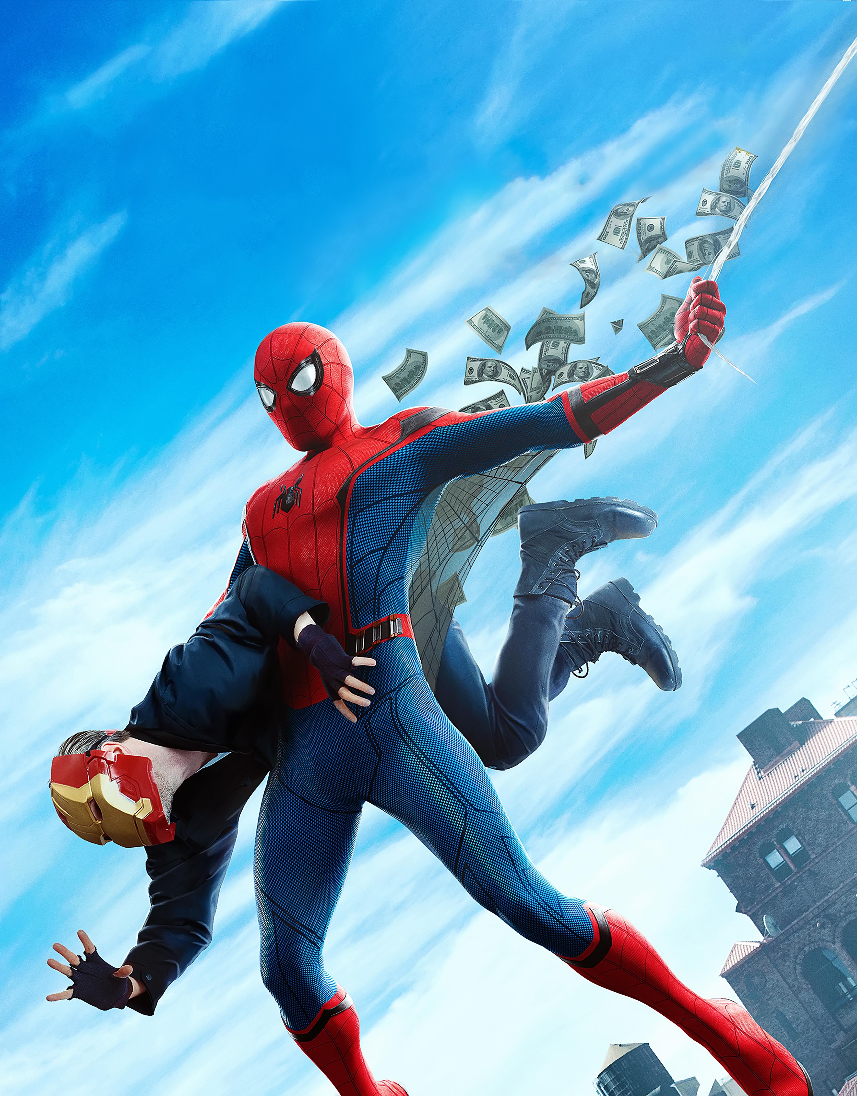 Desktop Wallpapers Spider-Man: Homecoming Heroes comics Spiderman hero film  for Mobile phone superheroes Movies
